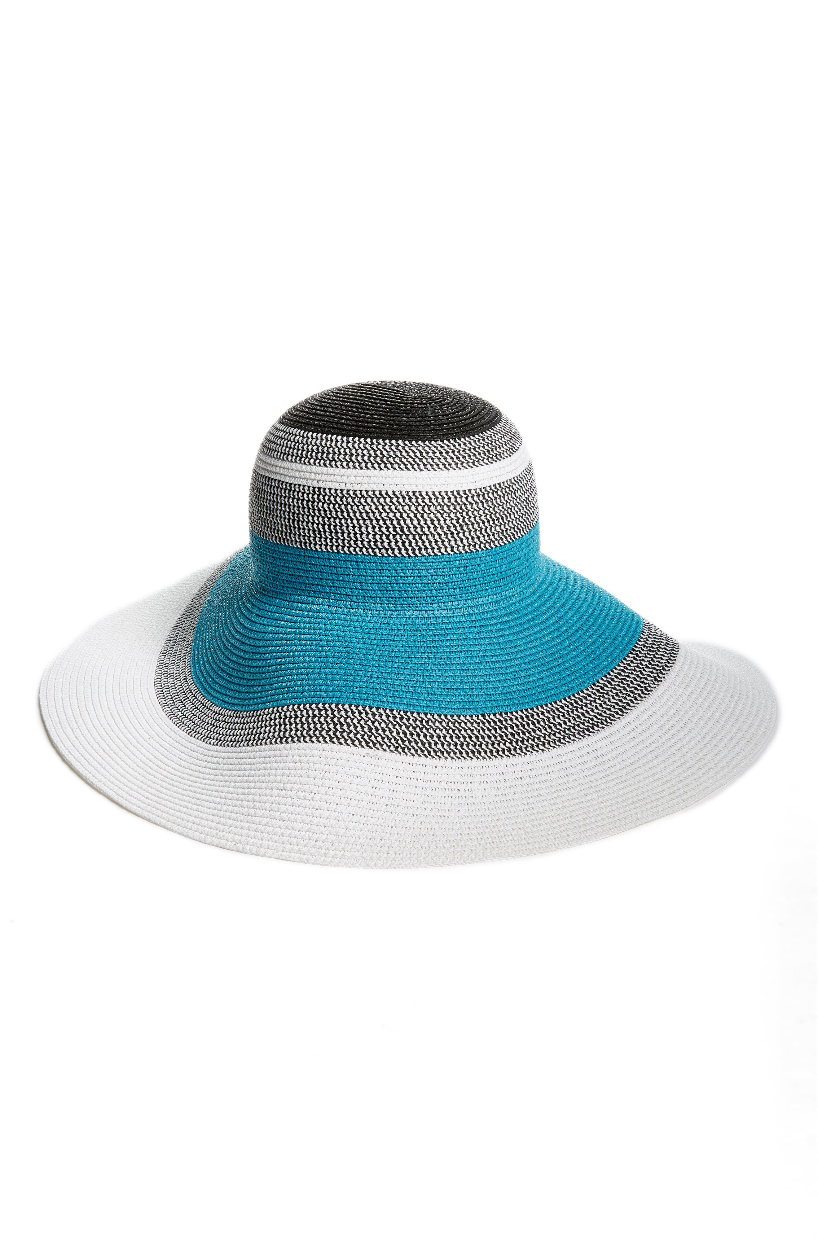 Statement Floppy Straw Hat,                             Main thumbnail 1, color,                             420