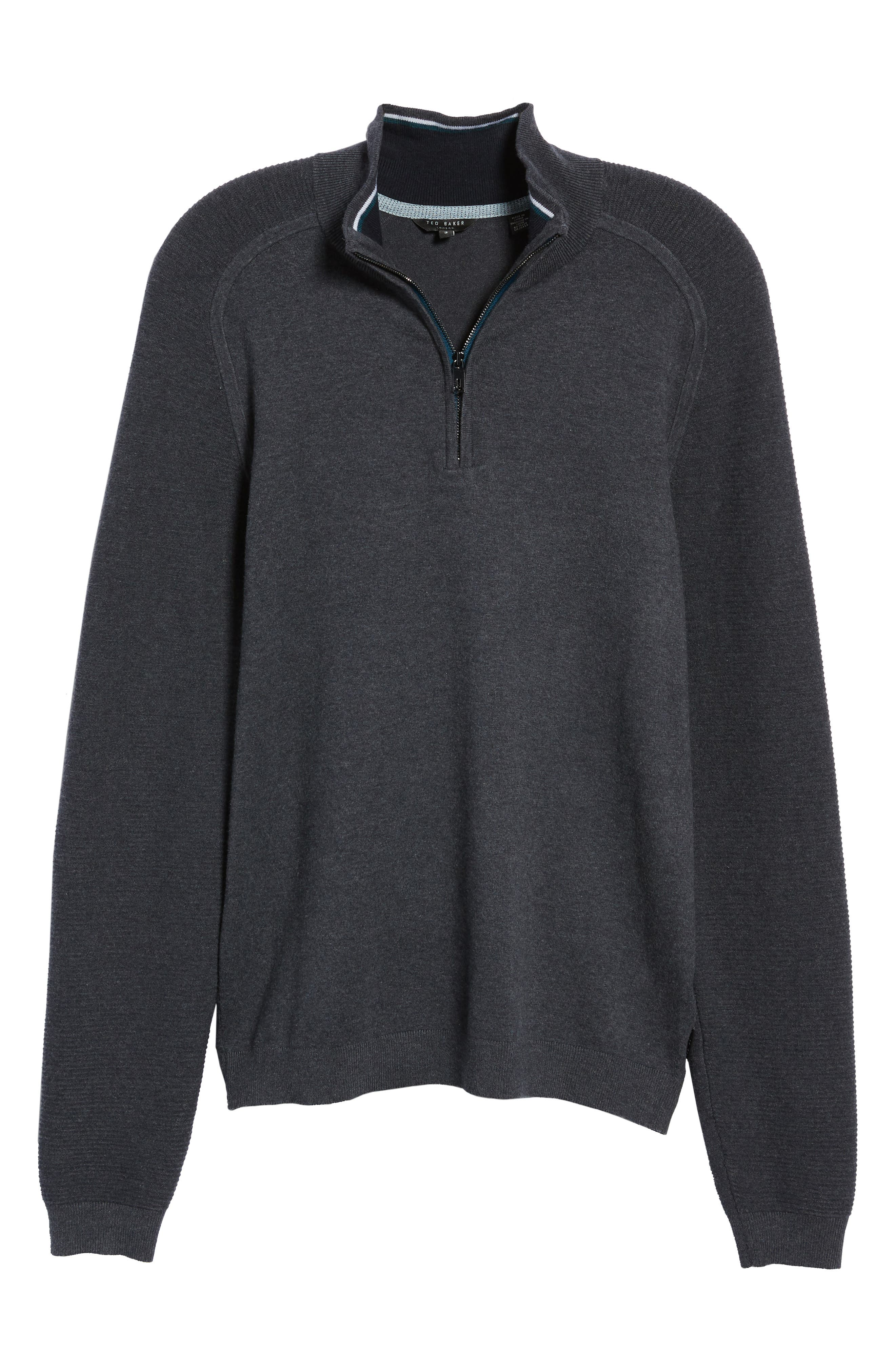Just Run Trim Fit Funnel Neck Pullover,                             Alternate thumbnail 6, color,                             CHARCOAL