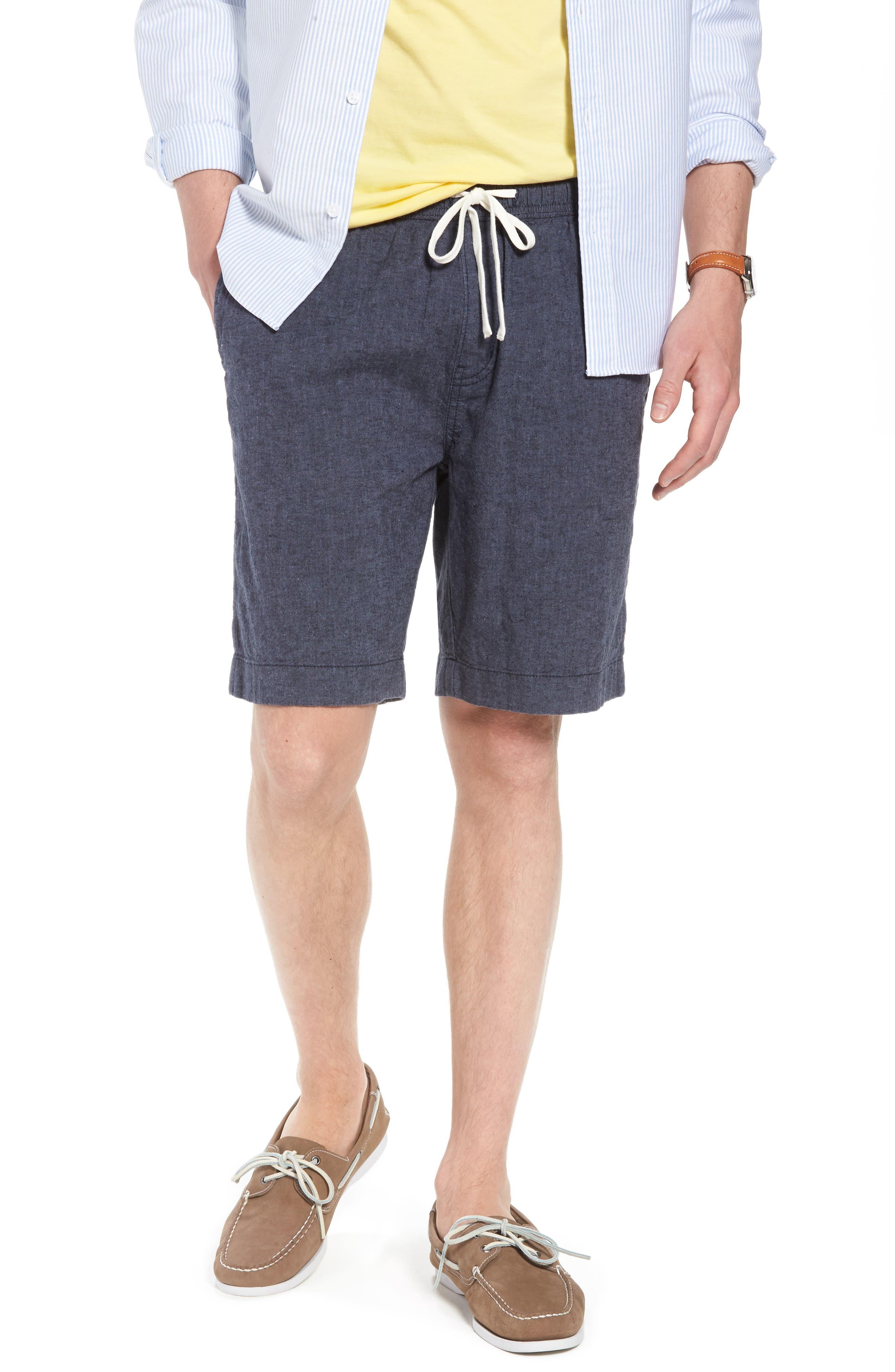 Drawstring Linen Blend Shorts,                             Main thumbnail 2, color,