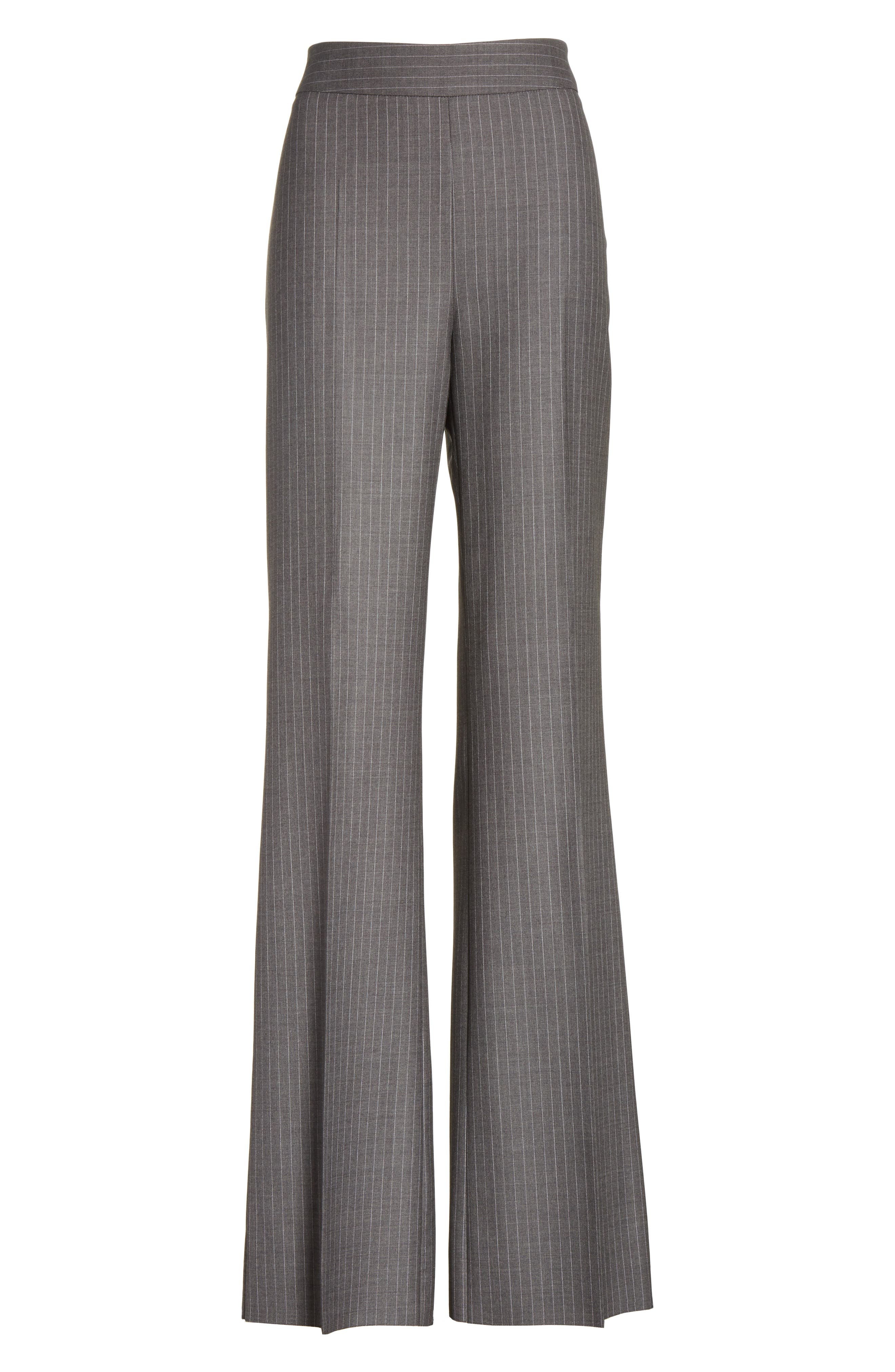Garibo Stretch Wool Pinstripe Pants,                             Alternate thumbnail 6, color,                             034