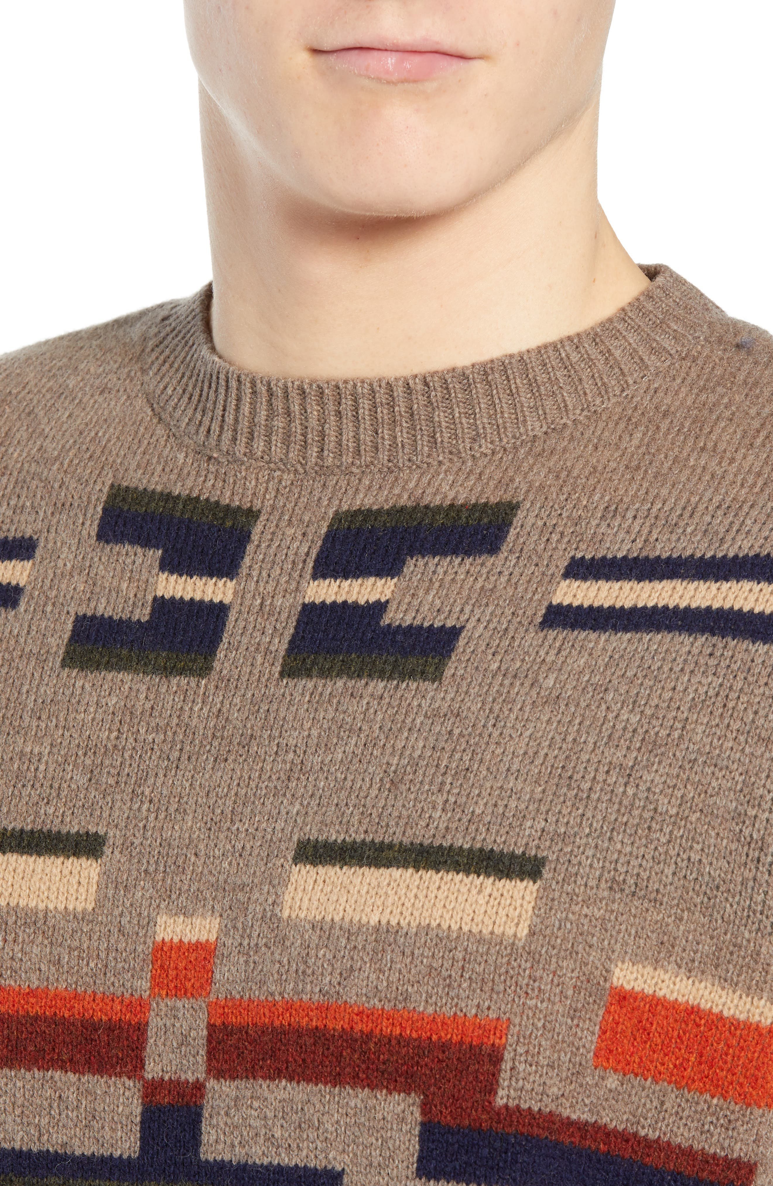 Outdoor Wool Sweater,                             Alternate thumbnail 4, color,                             MULTI NOVELTY MOTIF