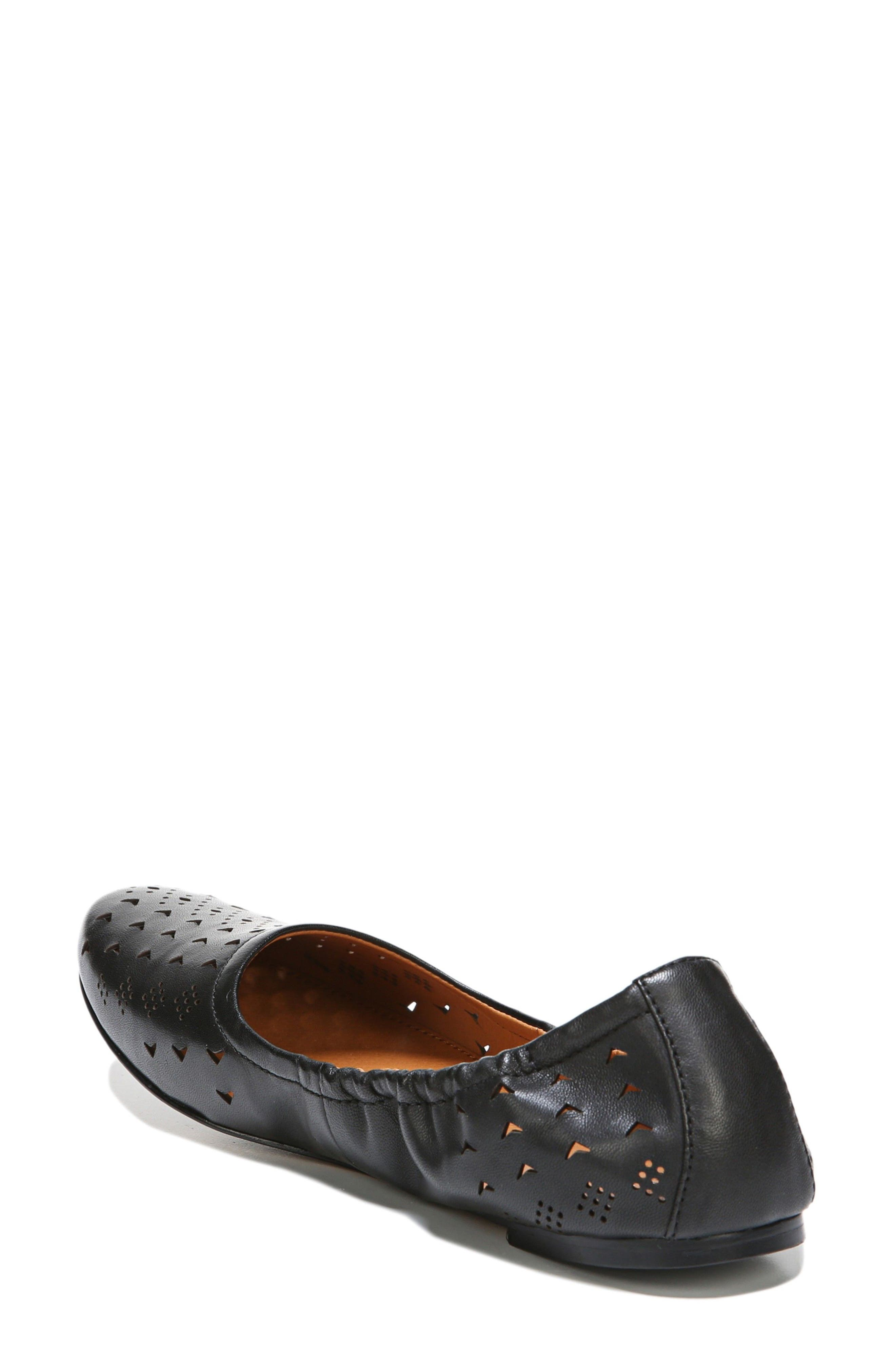 Brewer Perforated Ballet Flat,                             Alternate thumbnail 2, color,                             001