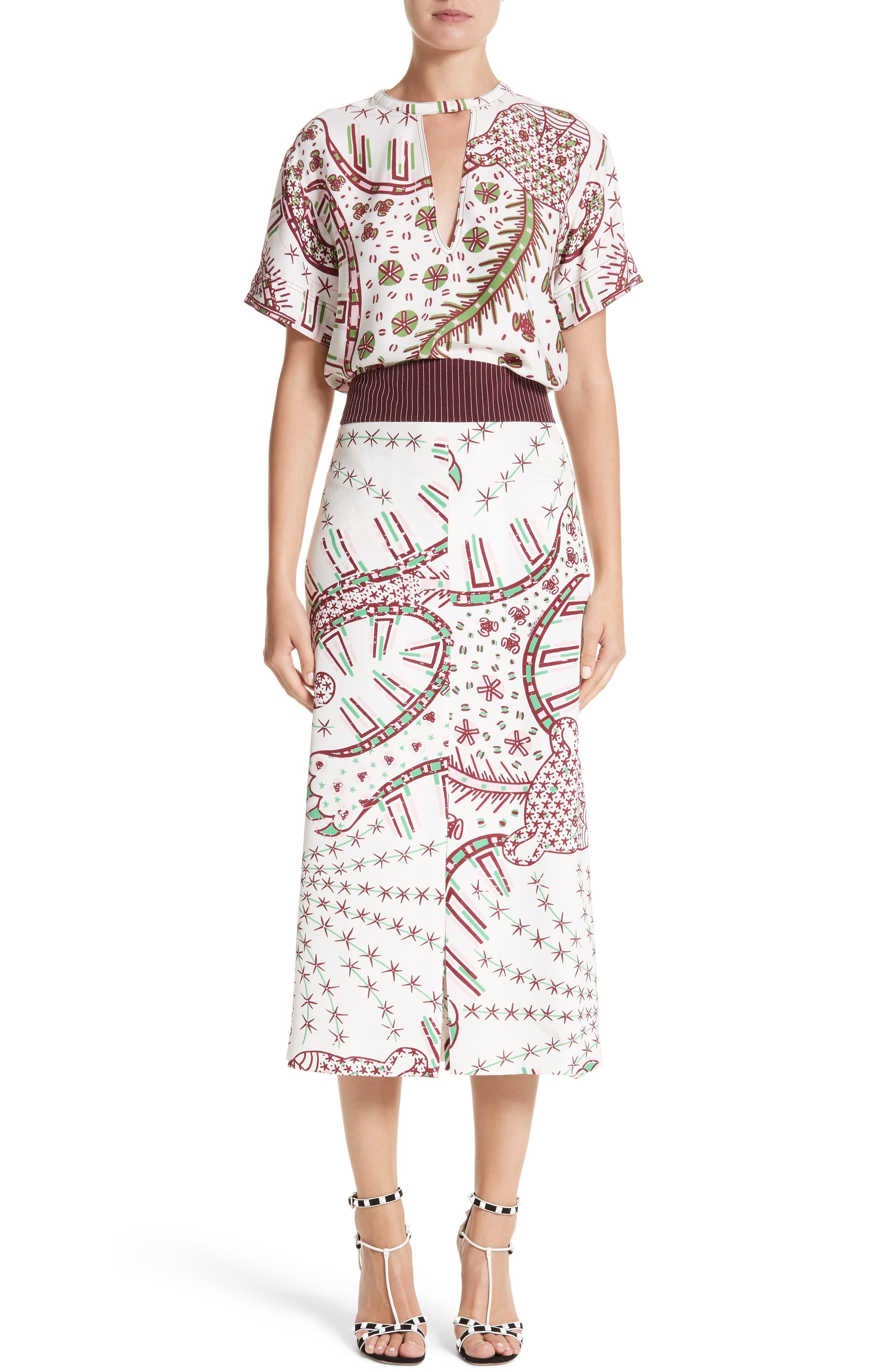 Leopard Cady Skirt,                             Alternate thumbnail 7, color,                             100