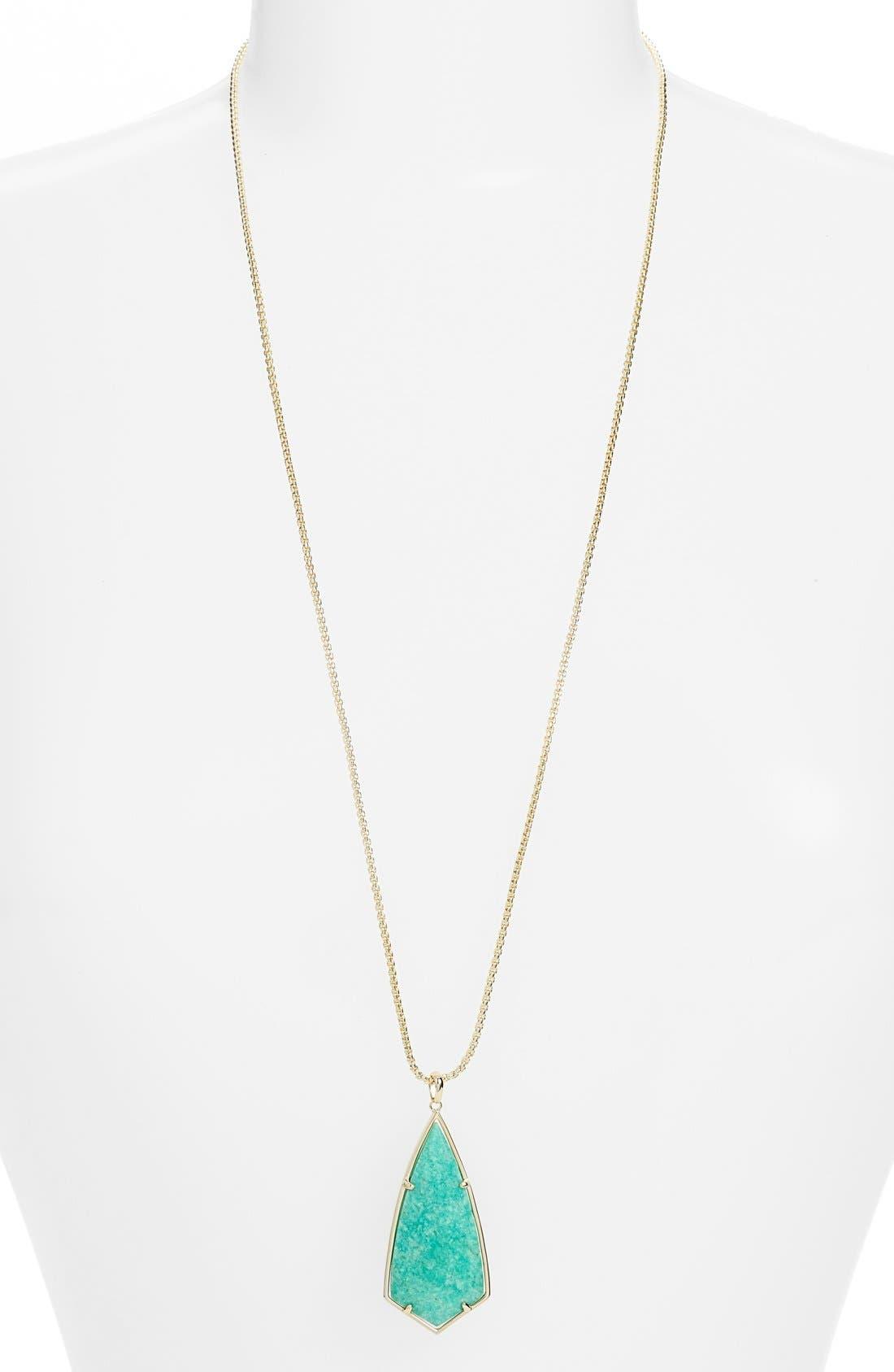 'Carole' Long Semiprecious Stone Pendant Necklace,                             Main thumbnail 8, color,