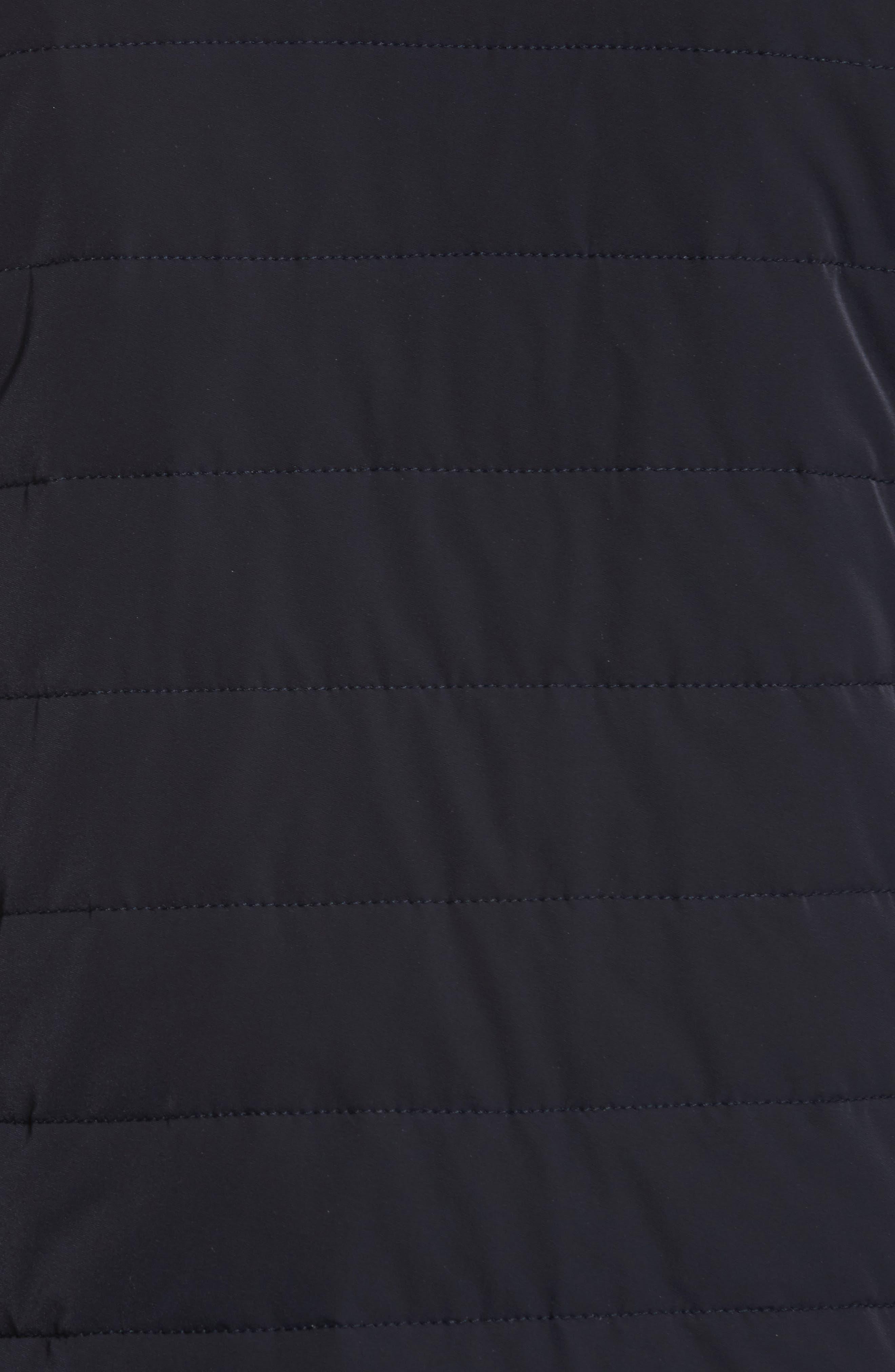 Regular Fit Mixed Media Jacket,                             Alternate thumbnail 5, color,                             410