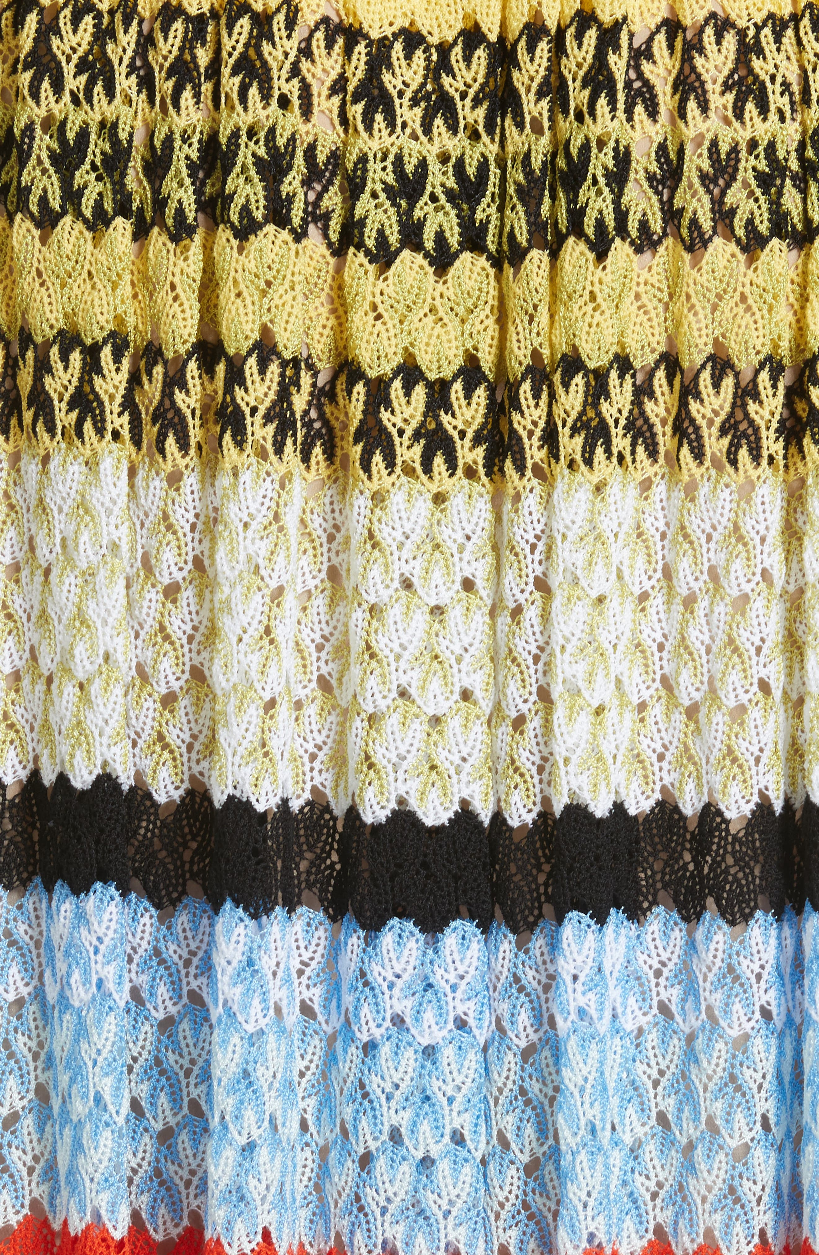 Stripe Knit Midi Skirt,                             Alternate thumbnail 5, color,                             480