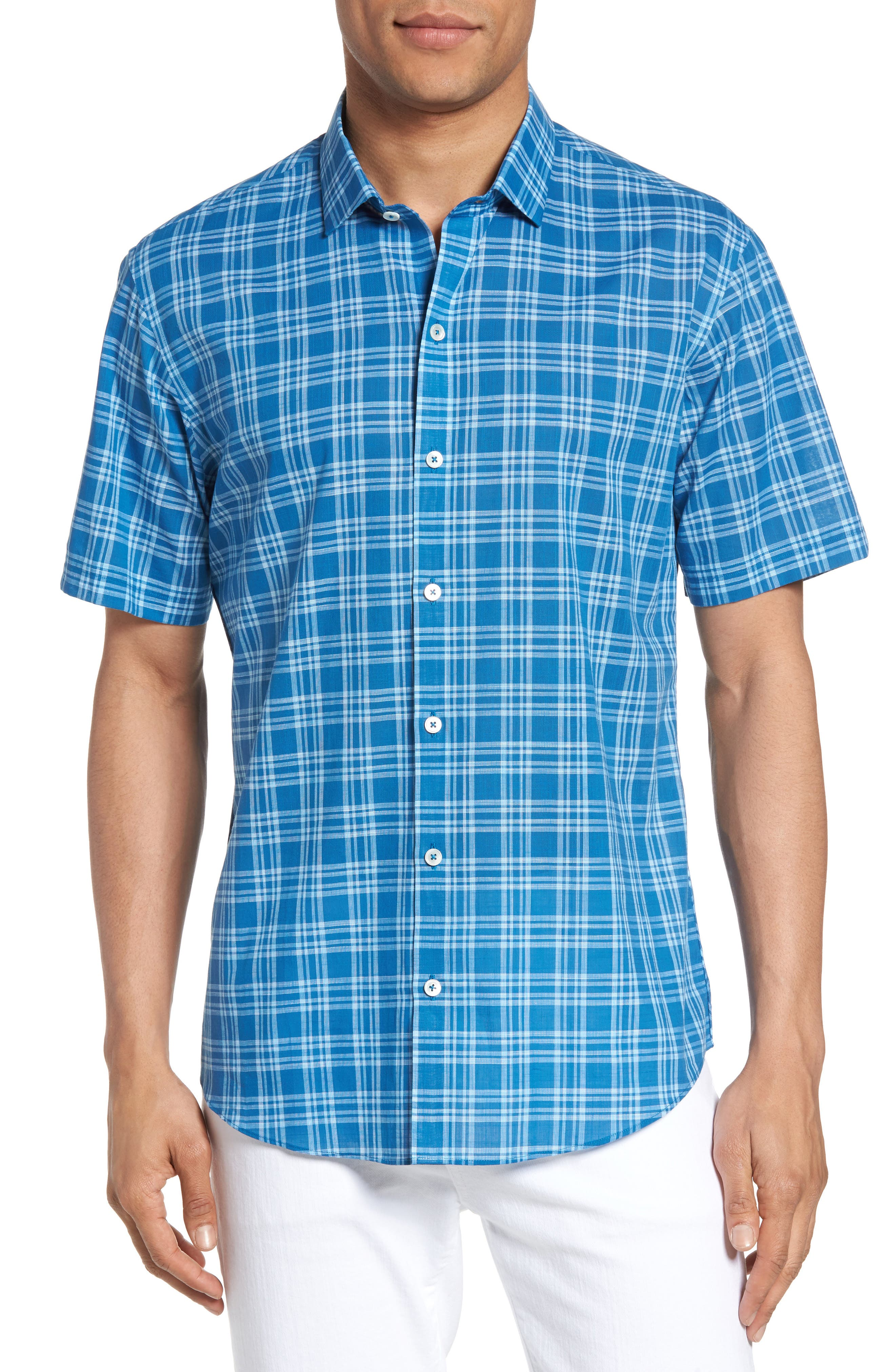 Kirchner Plaid Sport Shirt,                         Main,                         color, 460