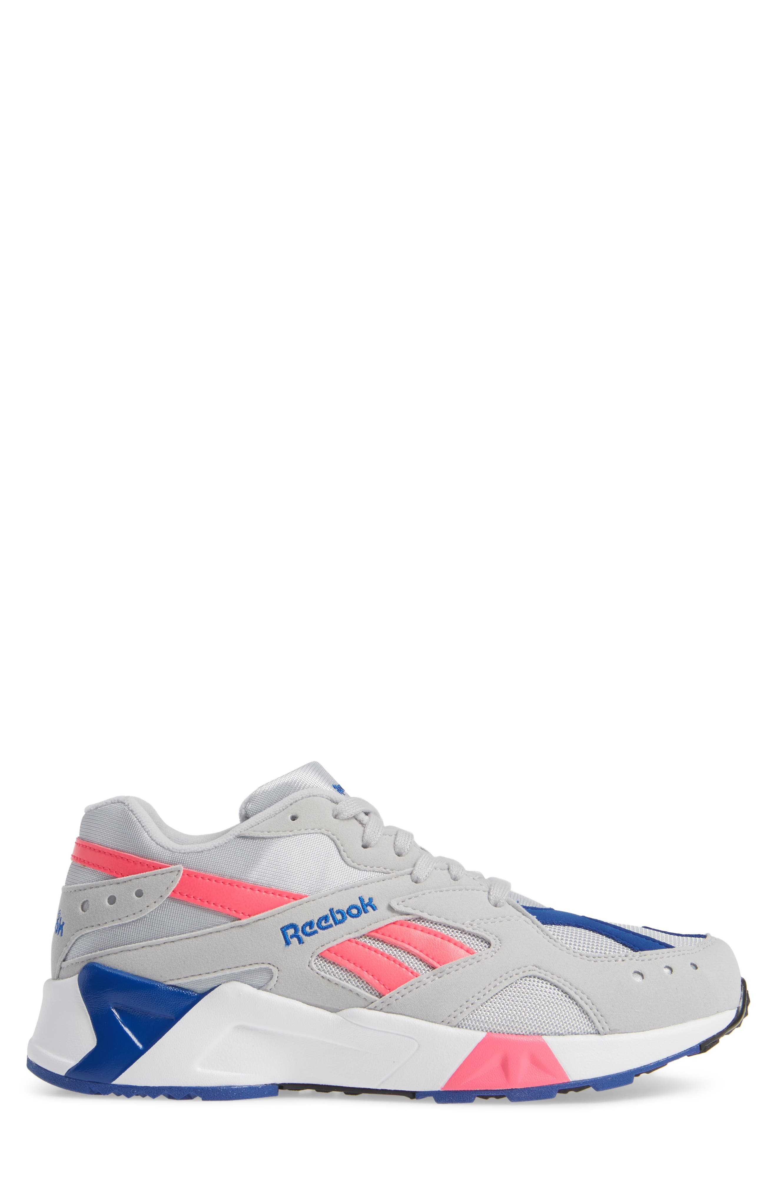 Aztrek Sneaker,                             Alternate thumbnail 3, color,                             GREY/ PINK/ COLLEGIATE ROYAL