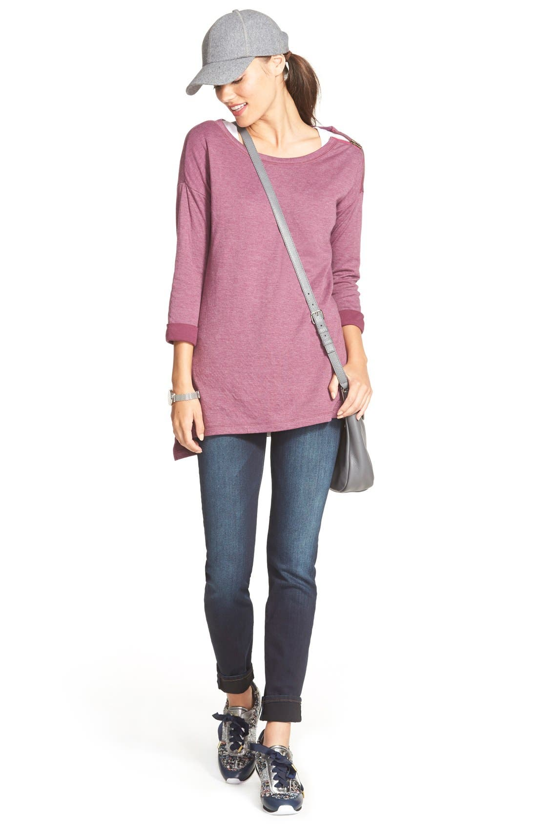 'Diana' Stretch Skinny Jeans,                             Alternate thumbnail 4, color,                             400