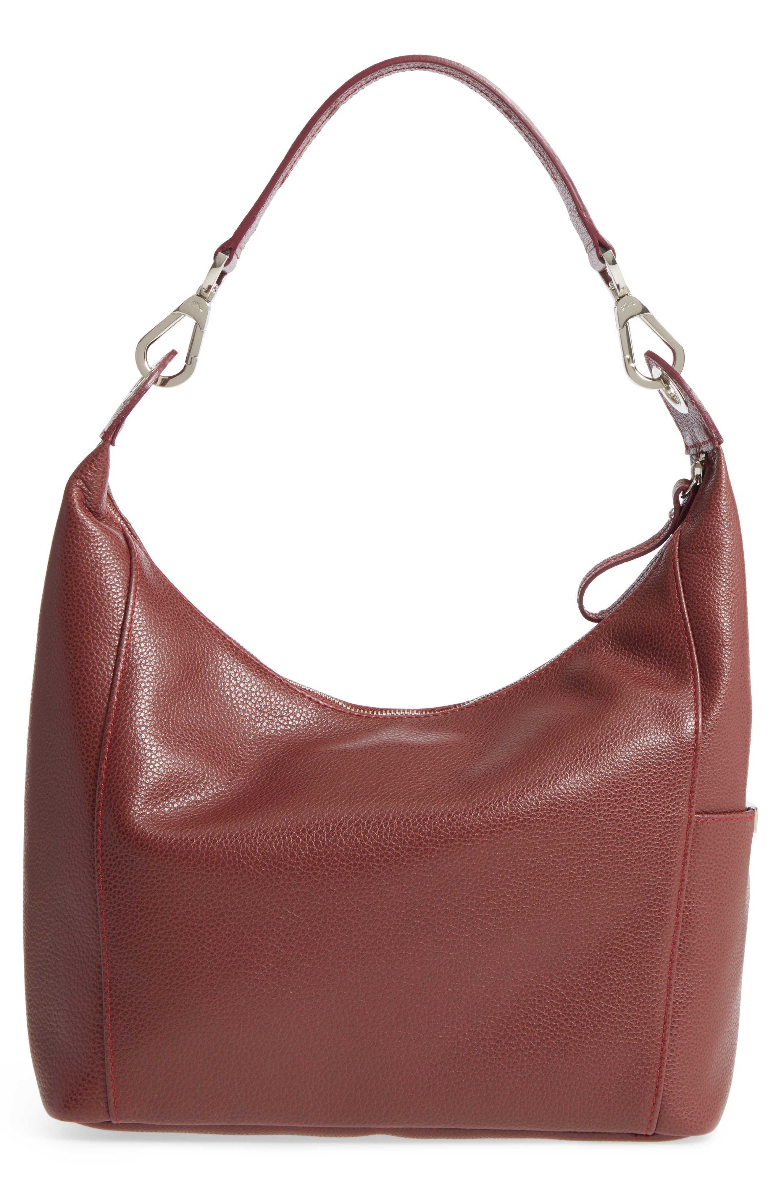 'Le Foulonne' Leather Hobo Bag,                             Alternate thumbnail 3, color,                             618