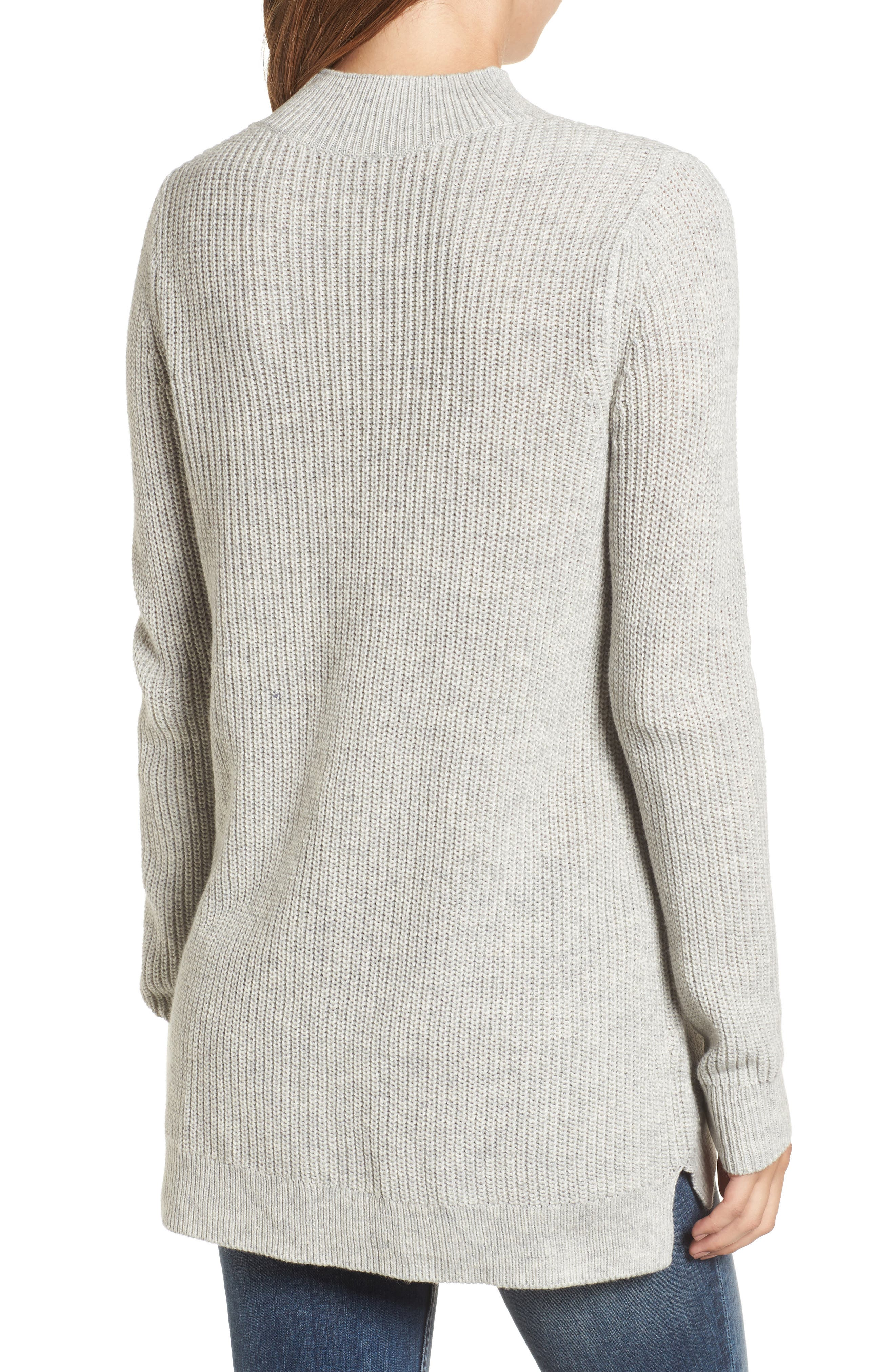 Mock Neck Tunic Sweater,                             Alternate thumbnail 10, color,
