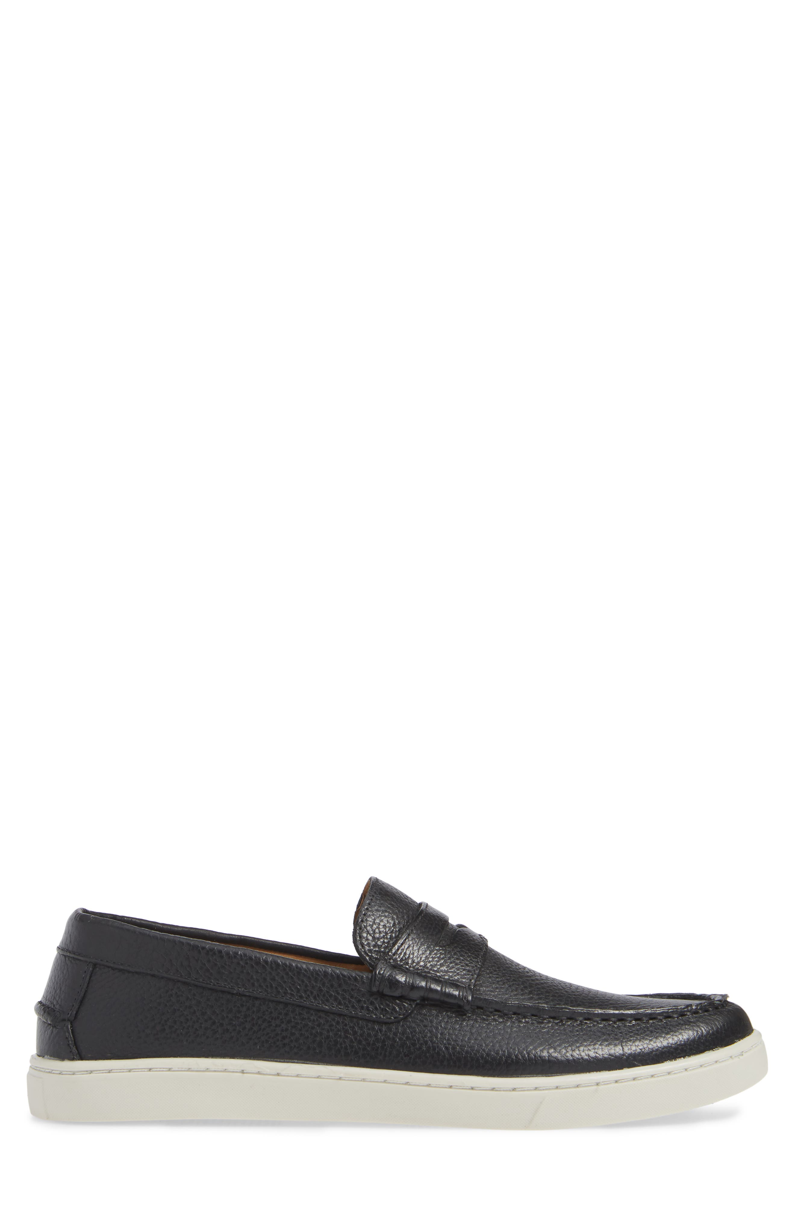 Chelan Penny Loafer,                             Alternate thumbnail 3, color,                             BLACK LEATHER