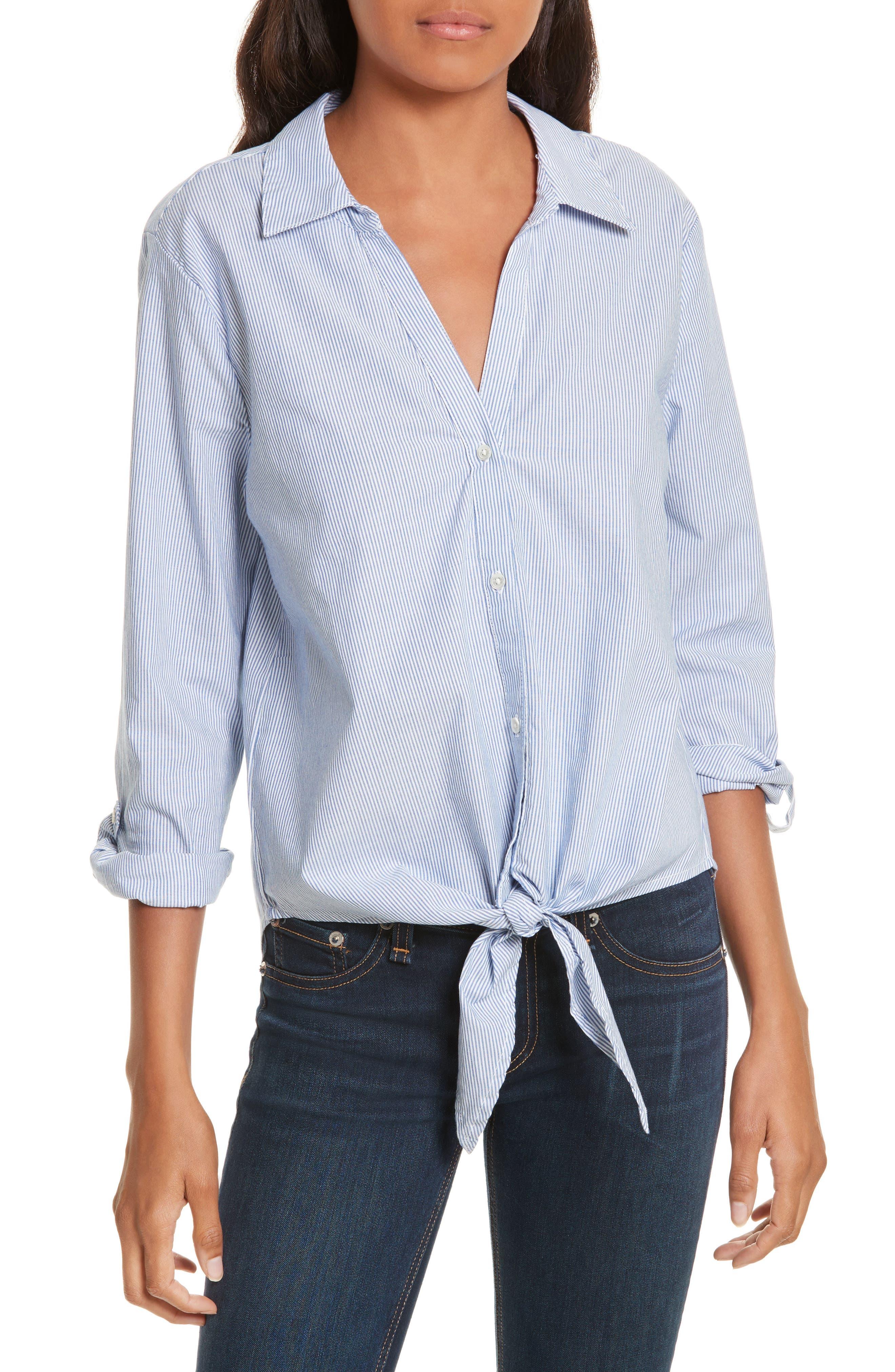 Crysta Tie Front Shirt,                             Main thumbnail 1, color,                             473