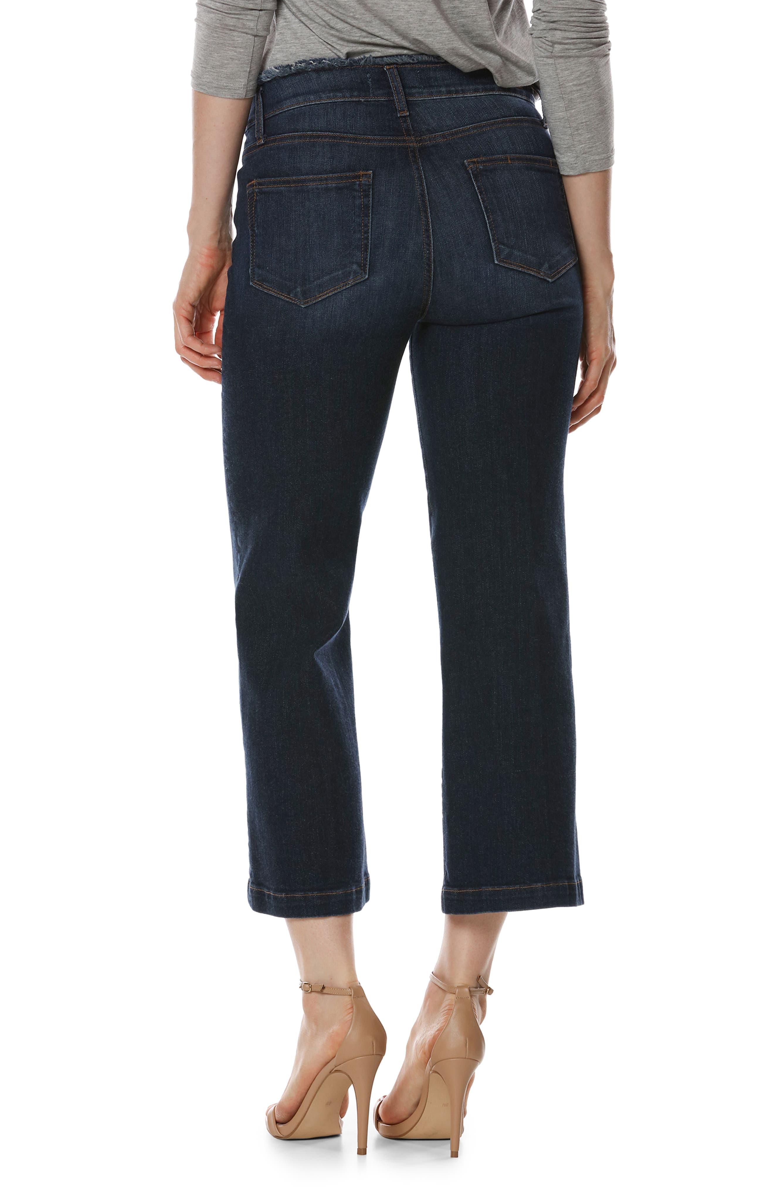 Lori Crop Wide Leg Jeans,                             Alternate thumbnail 3, color,                             400