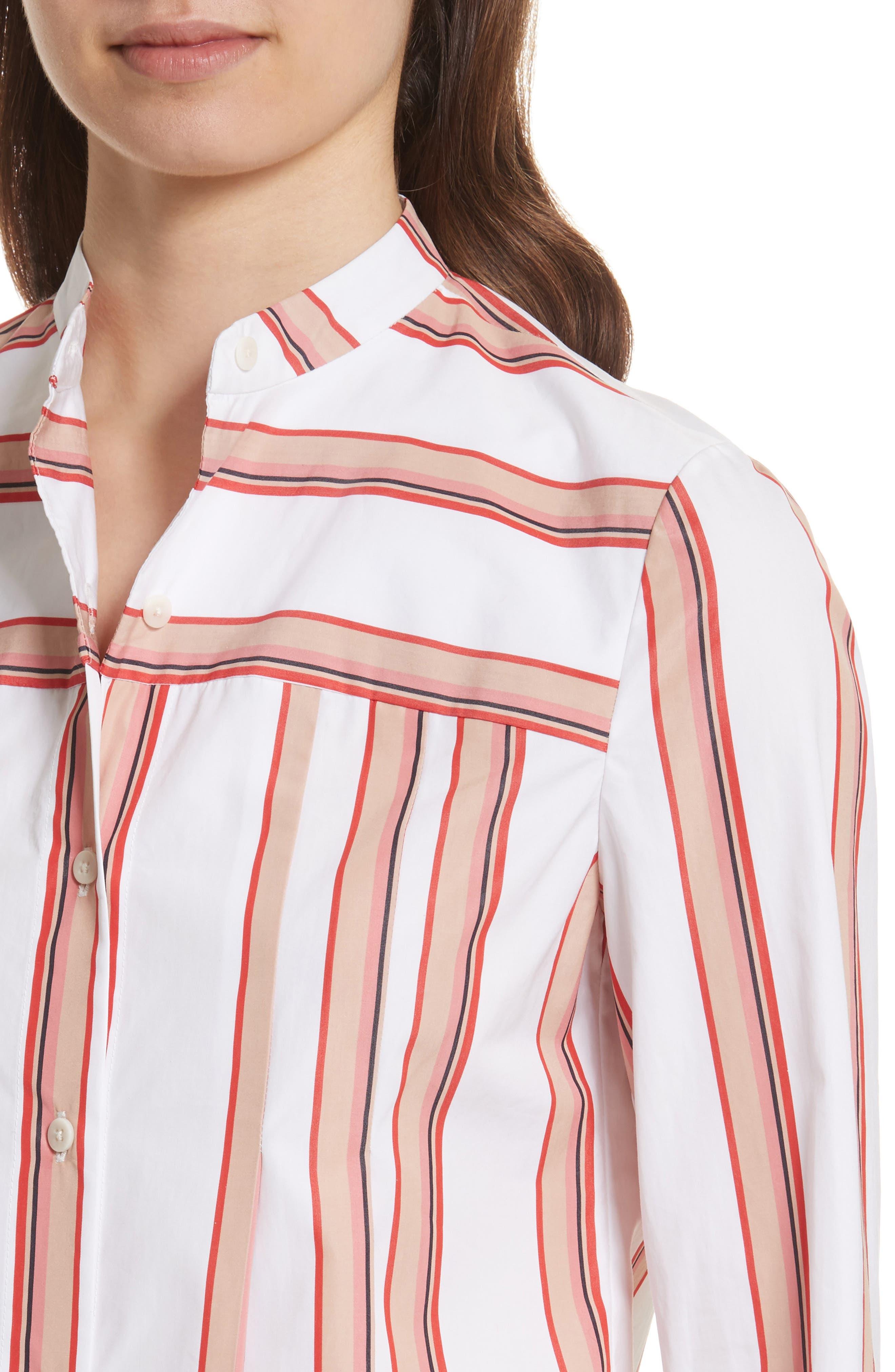Diane von Furstenberg Stripe Shirt,                             Alternate thumbnail 4, color,                             107