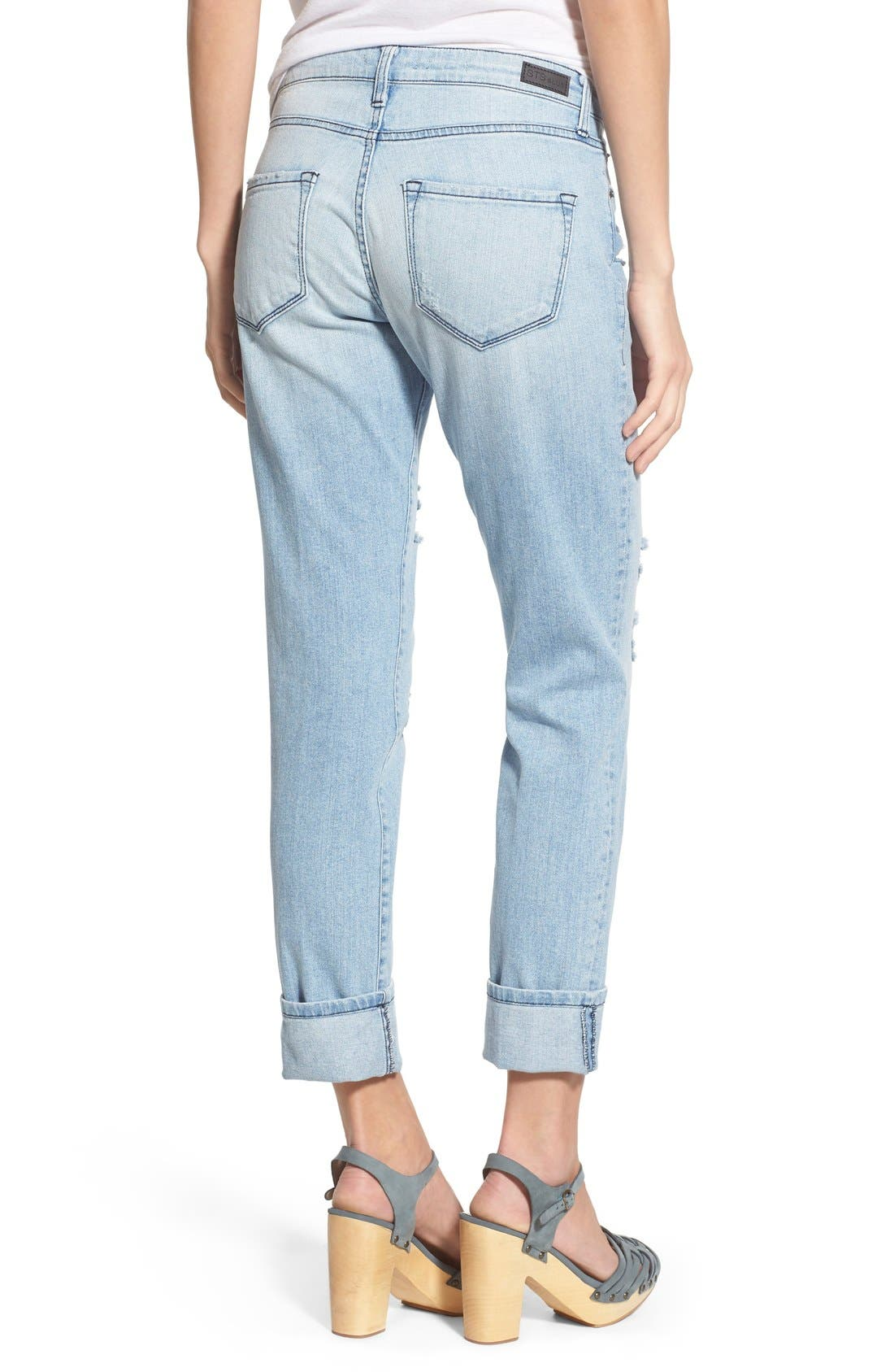 'Taylor' Distressed Jeans,                             Alternate thumbnail 5, color,                             404