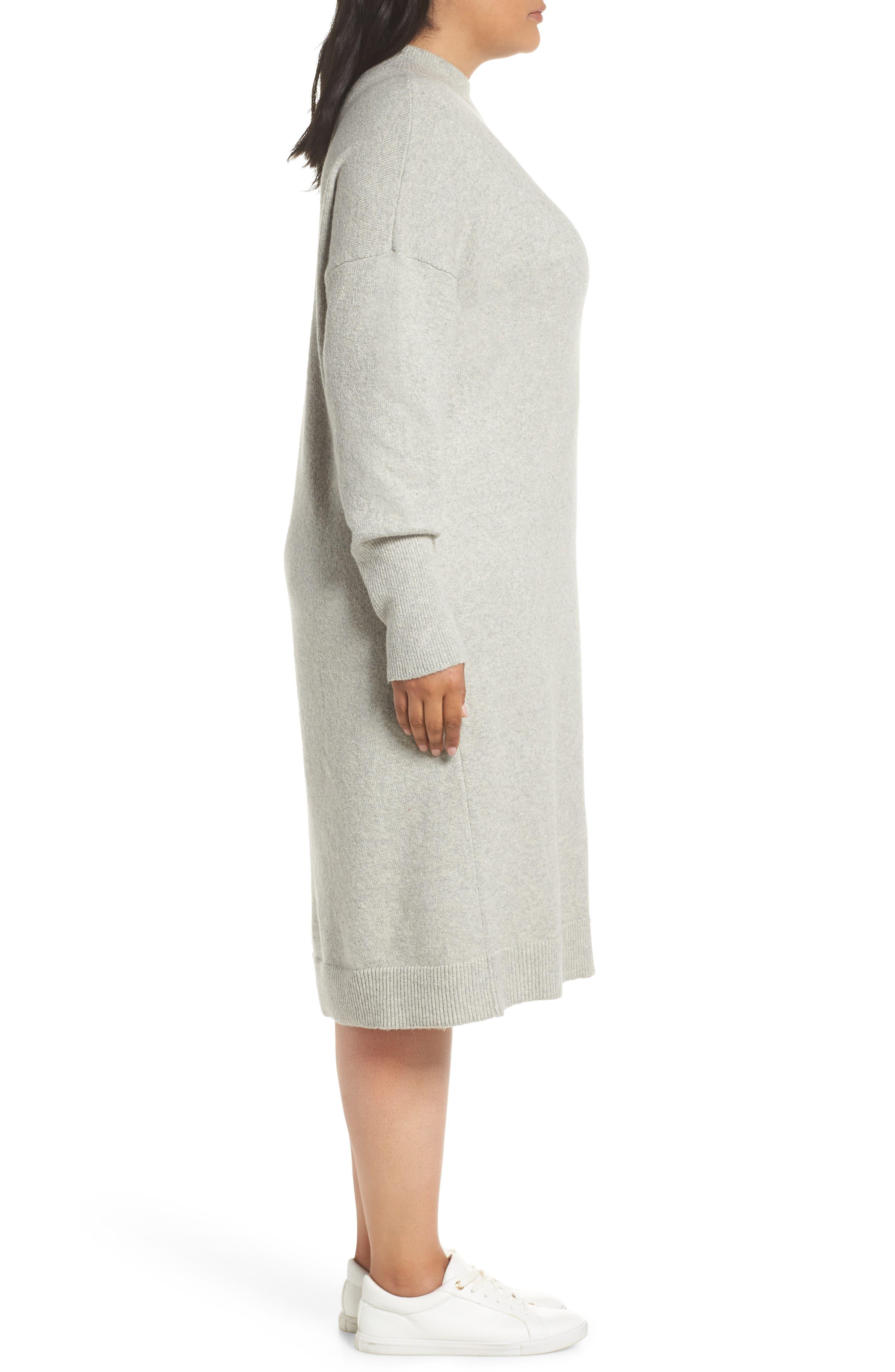 BP.,                             Mock Neck Sweater Dress,                             Alternate thumbnail 3, color,                             021
