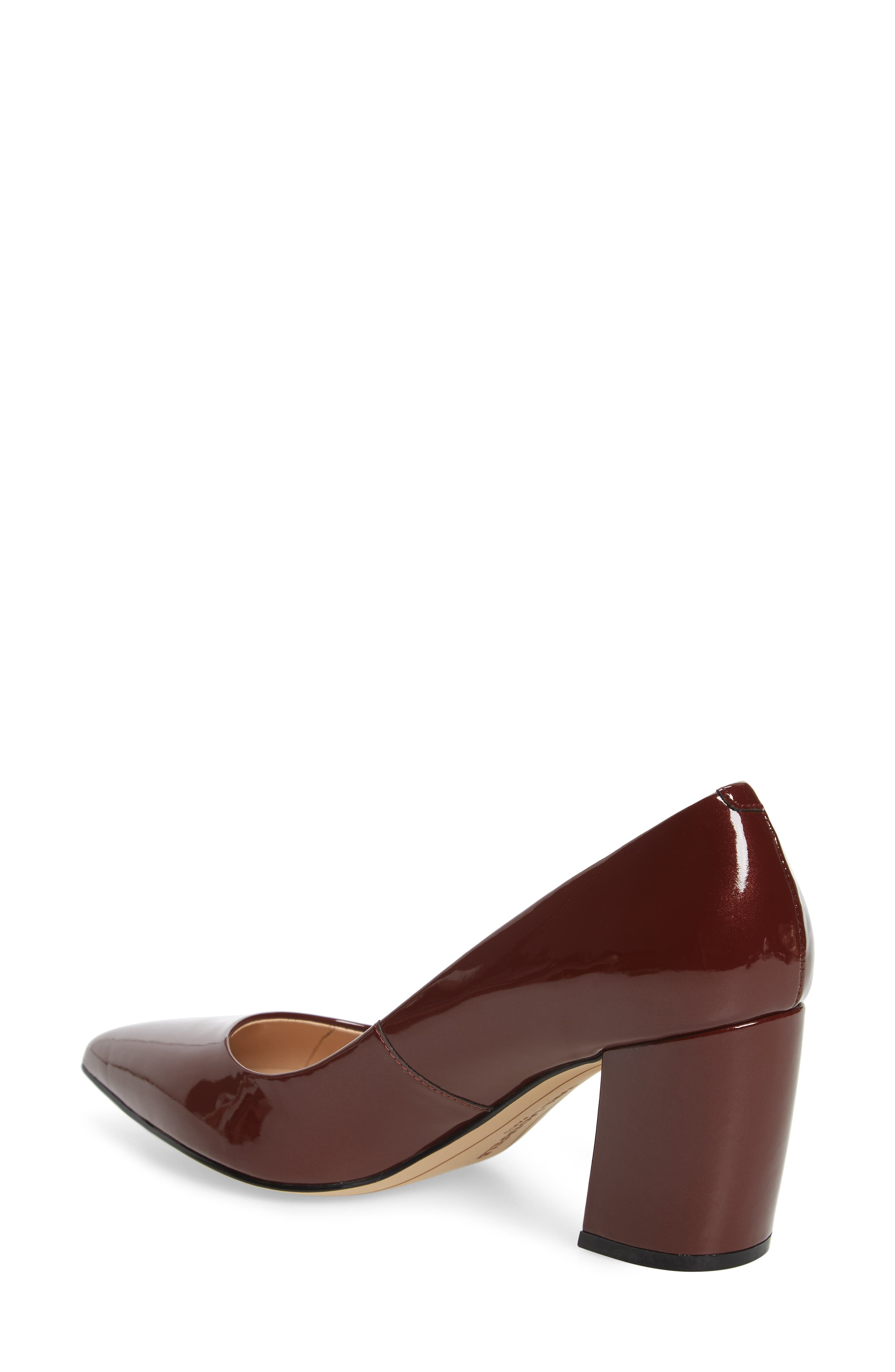Addie Pump,                             Alternate thumbnail 2, color,                             BURGUNDY PATENT LEATHER