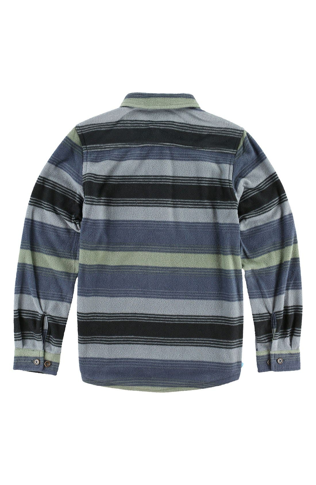 'Glacier Stripe' Fleece Shirt,                             Alternate thumbnail 2, color,                             068