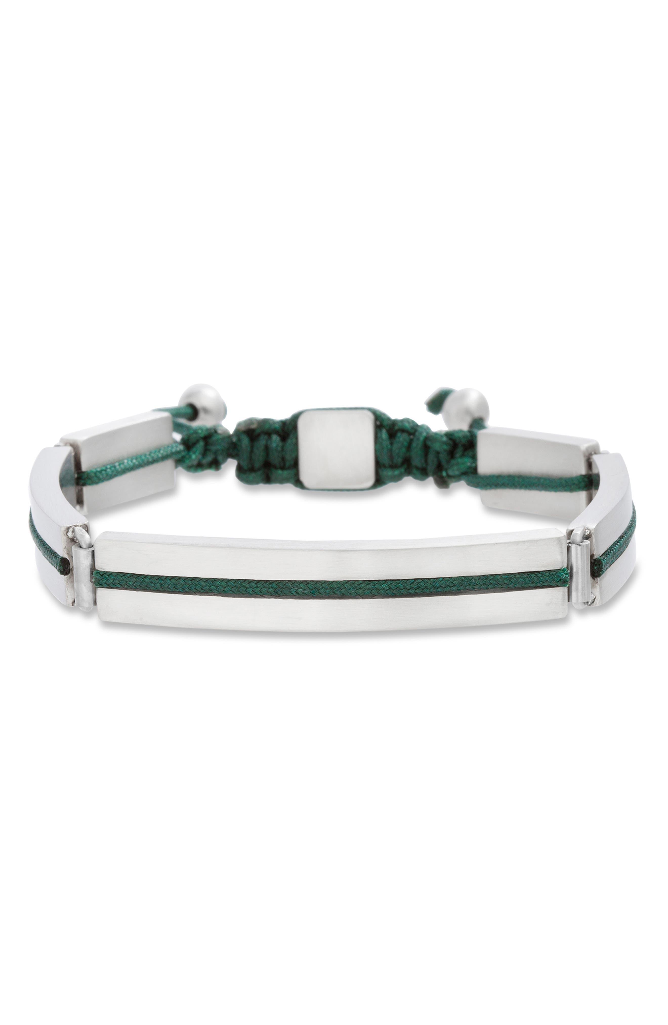 BEN SHERMAN Adjustable Steel Bracelet in Black