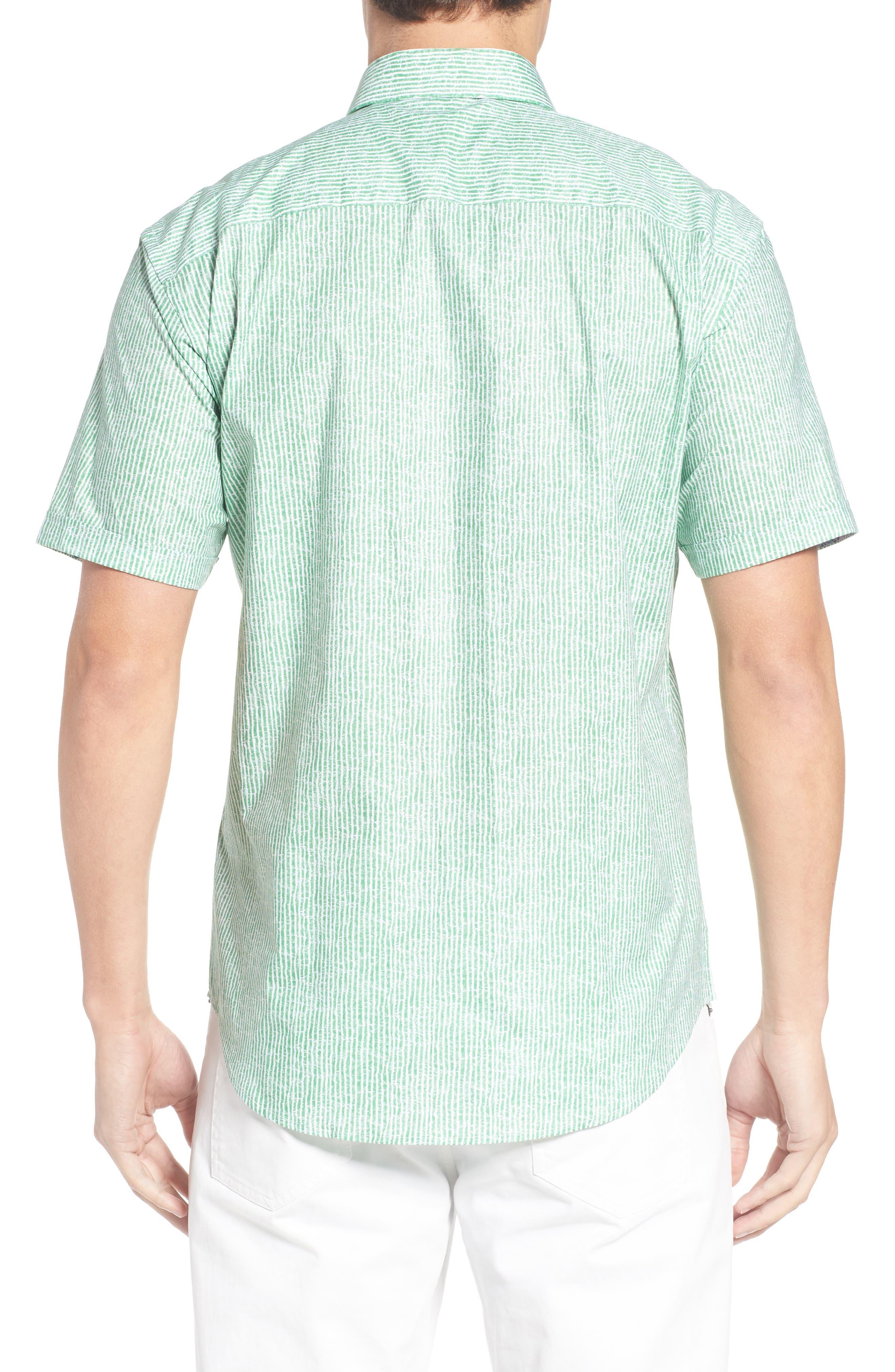 Shaped Fit Stripe Sport Shirt,                             Alternate thumbnail 12, color,