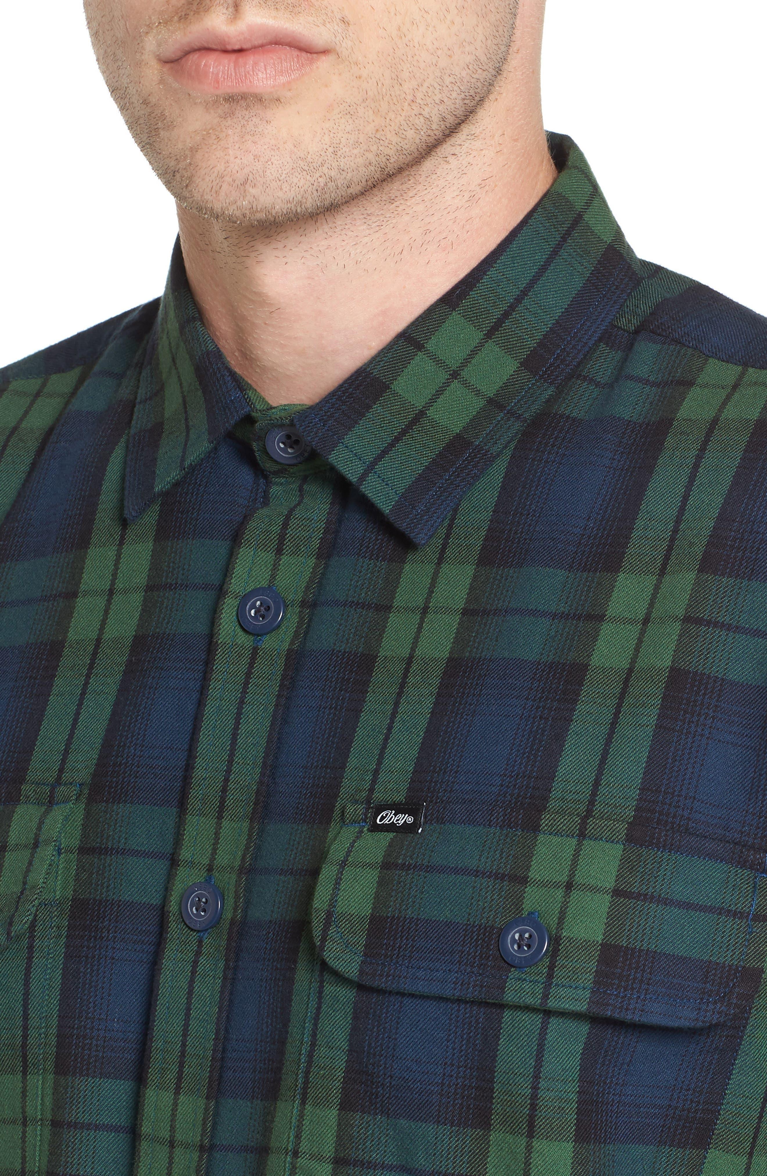 Norwich Plaid Woven Shirt,                             Alternate thumbnail 4, color,                             303