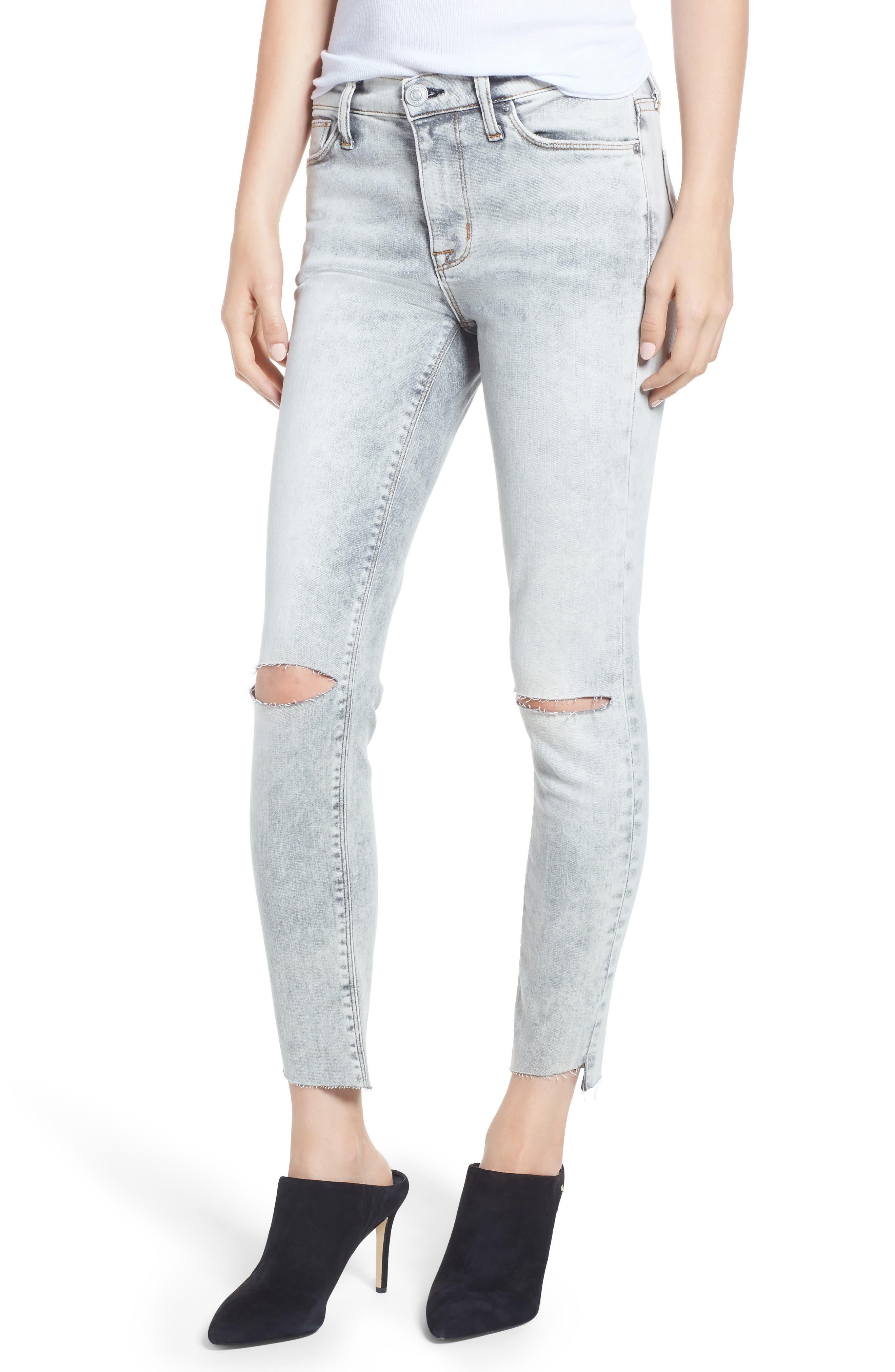Nico Crop Step Hem Super Skinny Jeans,                             Main thumbnail 1, color,                             SAY THE WORD