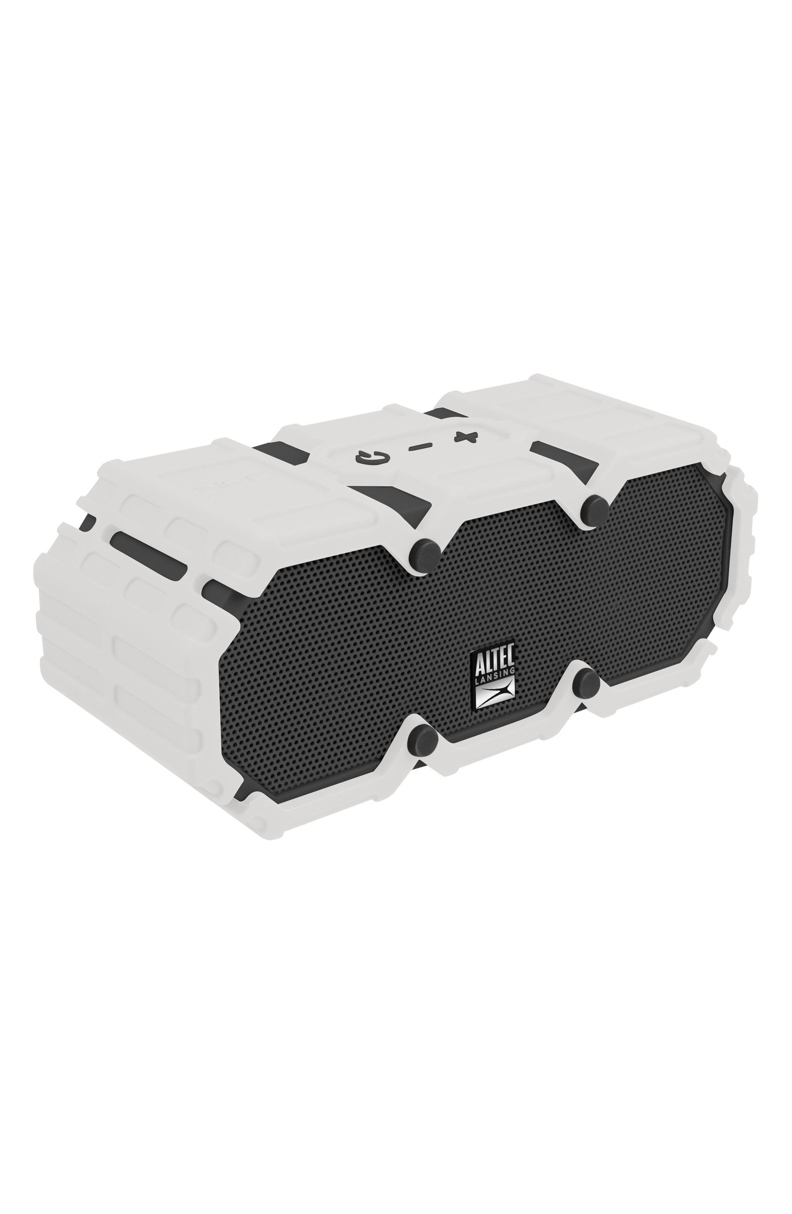Mini Lifejacket S3 Waterproof Wireless Speaker,                             Alternate thumbnail 2, color,                             WHITE/ GRAPHITE