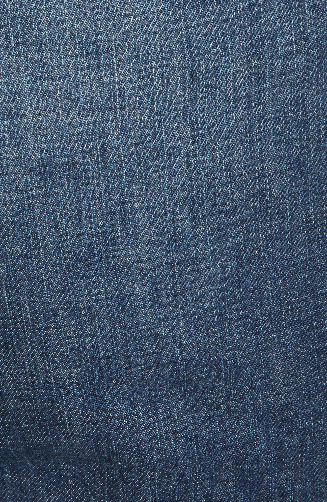 Frayed Seamed Crop Jeans,                             Alternate thumbnail 5, color,                             410