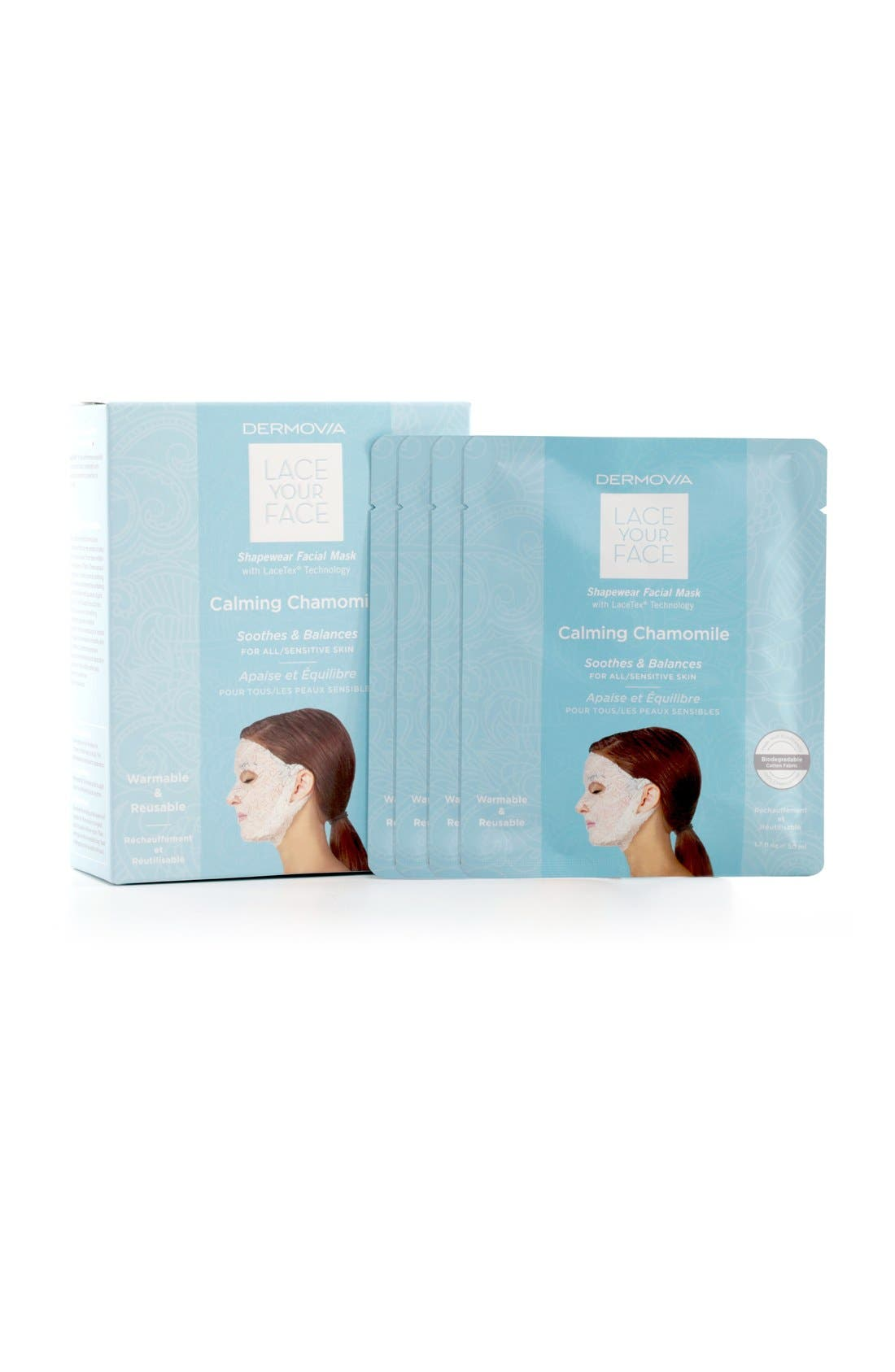 Lace Your Face Chamomile Calming Compression Facial Mask,                             Alternate thumbnail 3, color,                             NONE