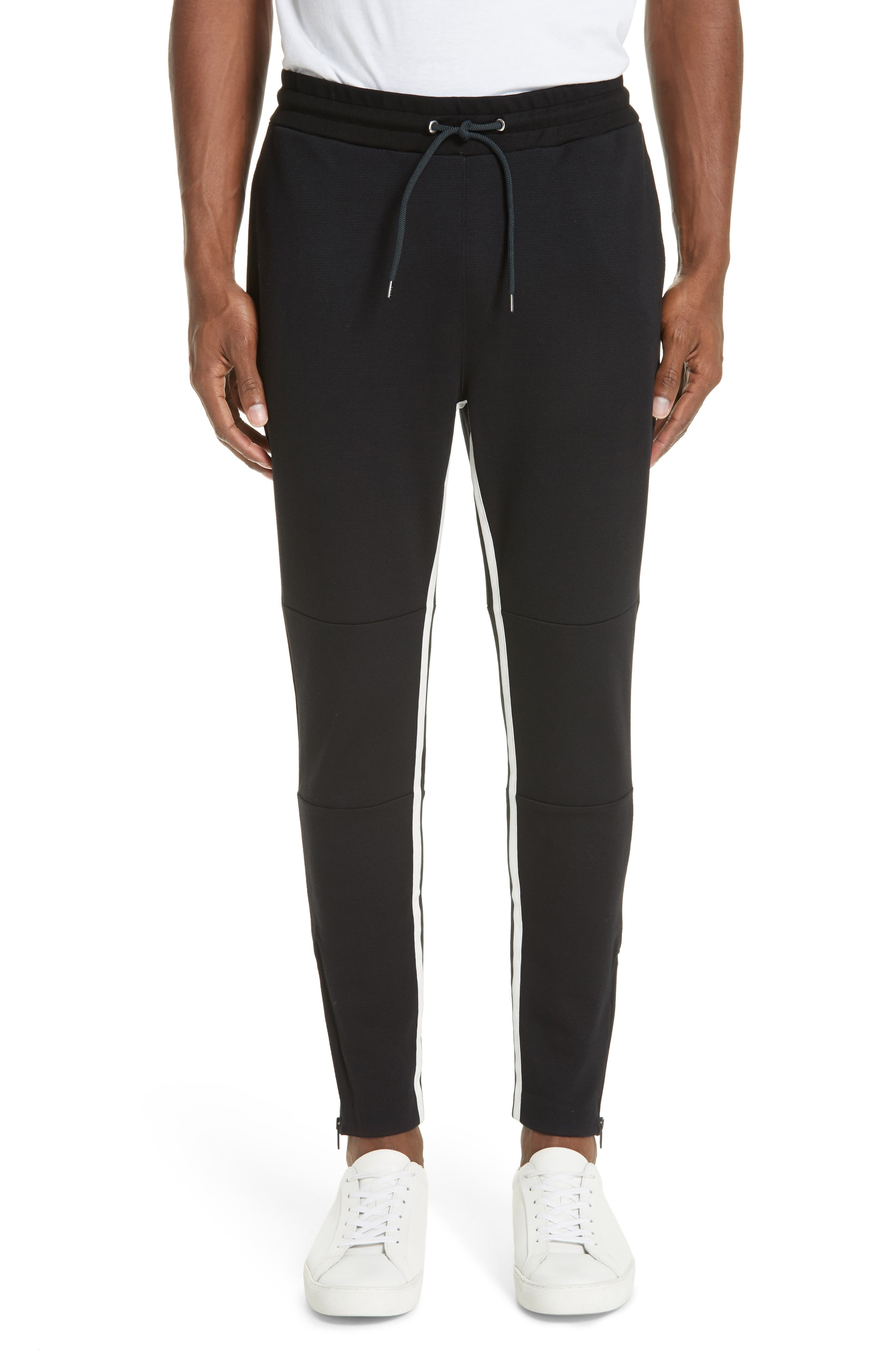 Stripe Jogger Pants,                         Main,                         color, BLACK