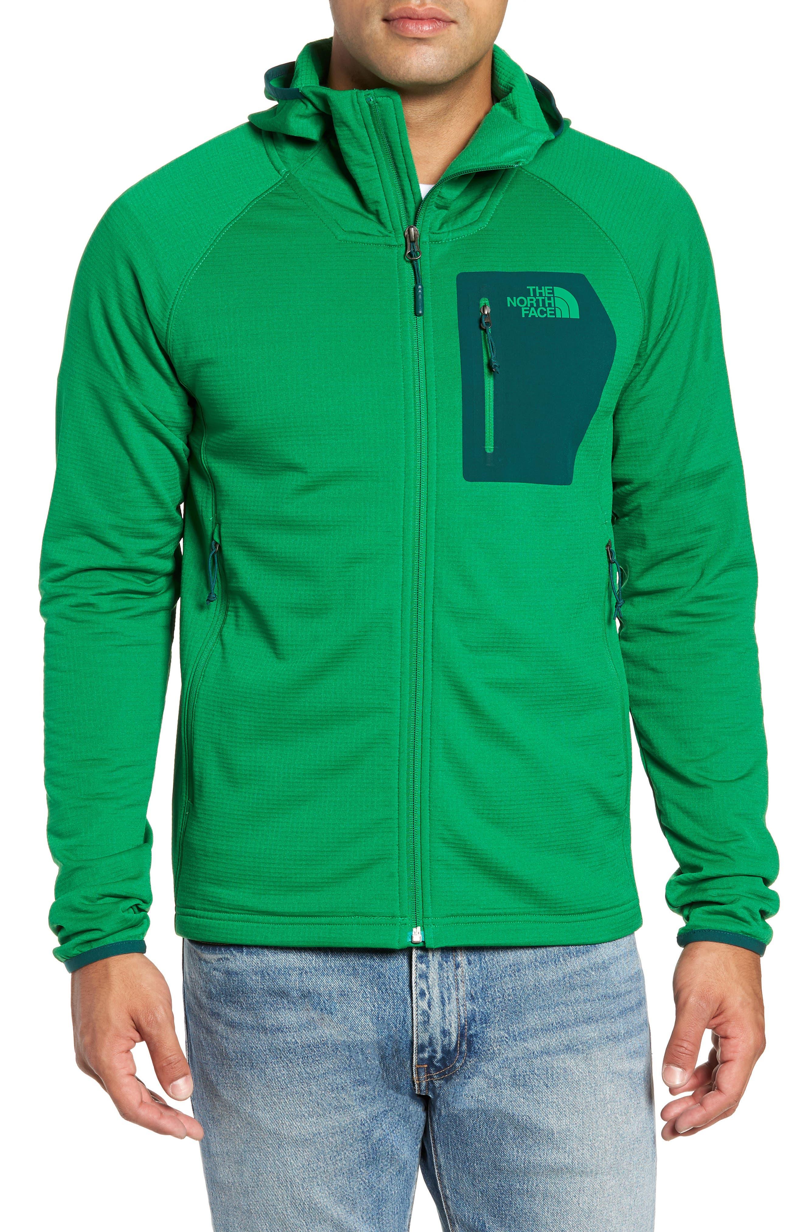 Borod Zip Fleece Jacket,                             Alternate thumbnail 4, color,                             PRIMARY GREEN/GARDEN GREEN