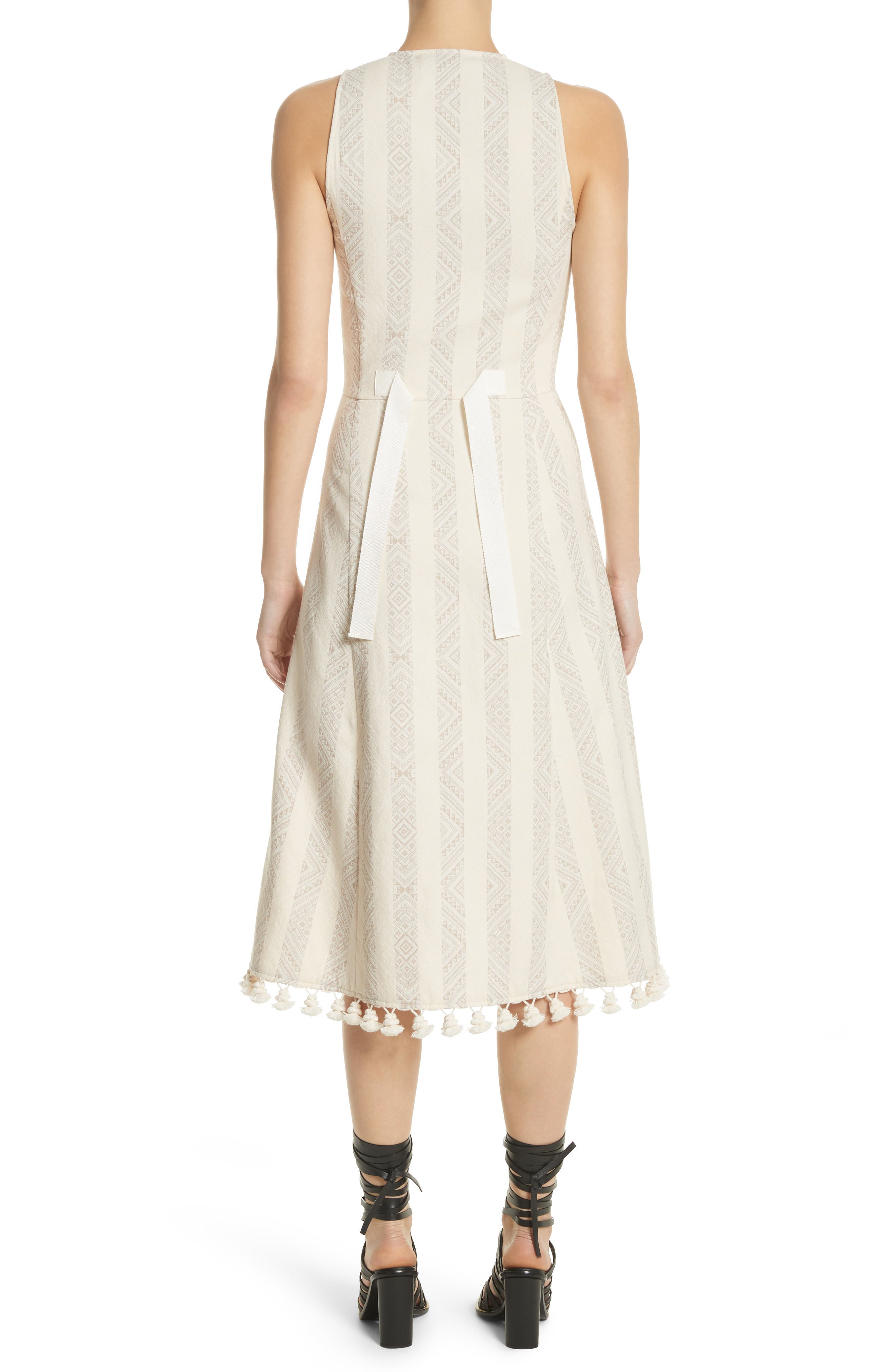 Grosgrain Tie Stripe Dress,                             Alternate thumbnail 2, color,                             106