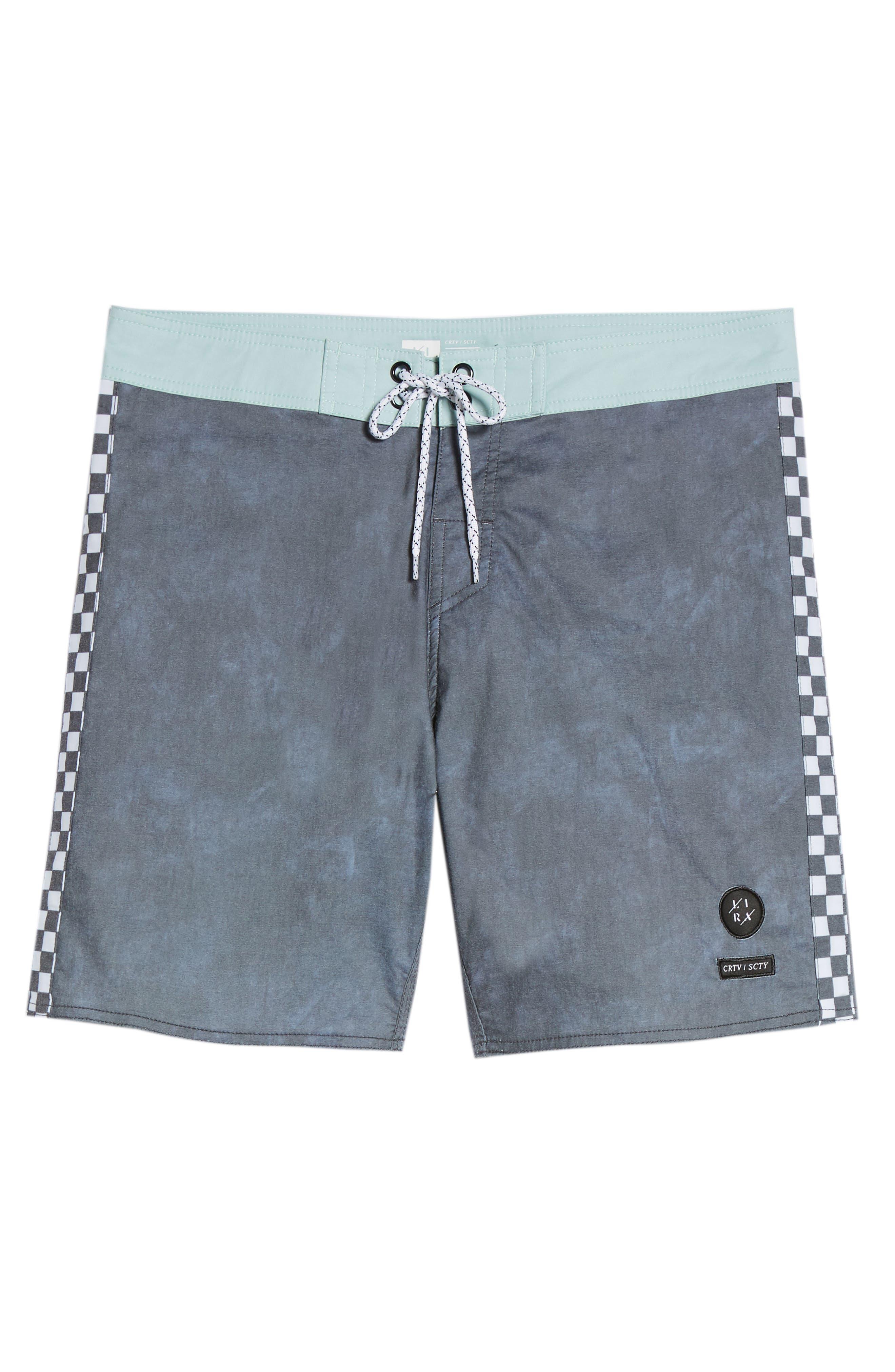Side Check Board Shorts,                             Alternate thumbnail 6, color,                             001