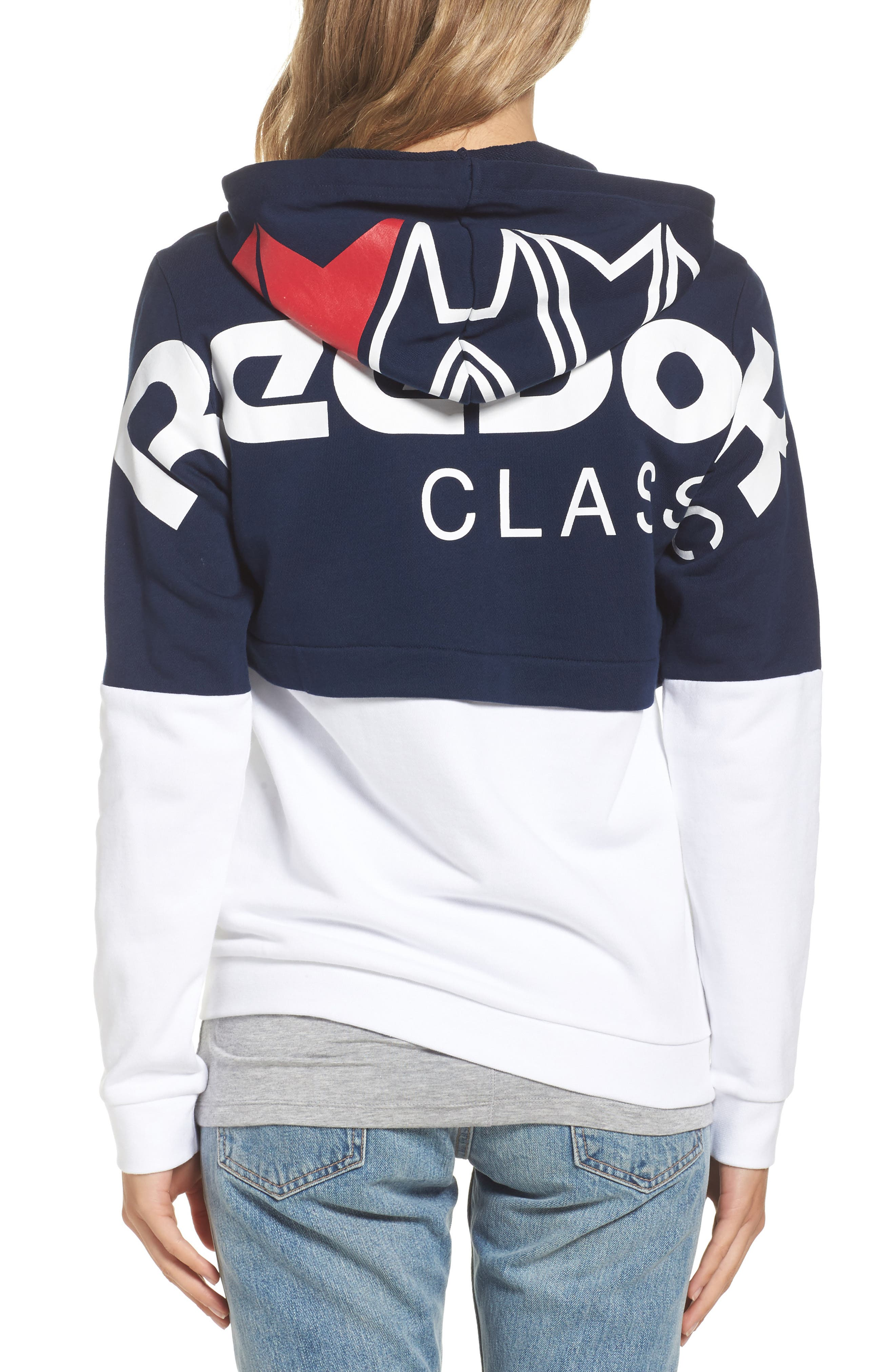 Colorblock French Terry Zip Hoodie,                             Alternate thumbnail 2, color,                             408