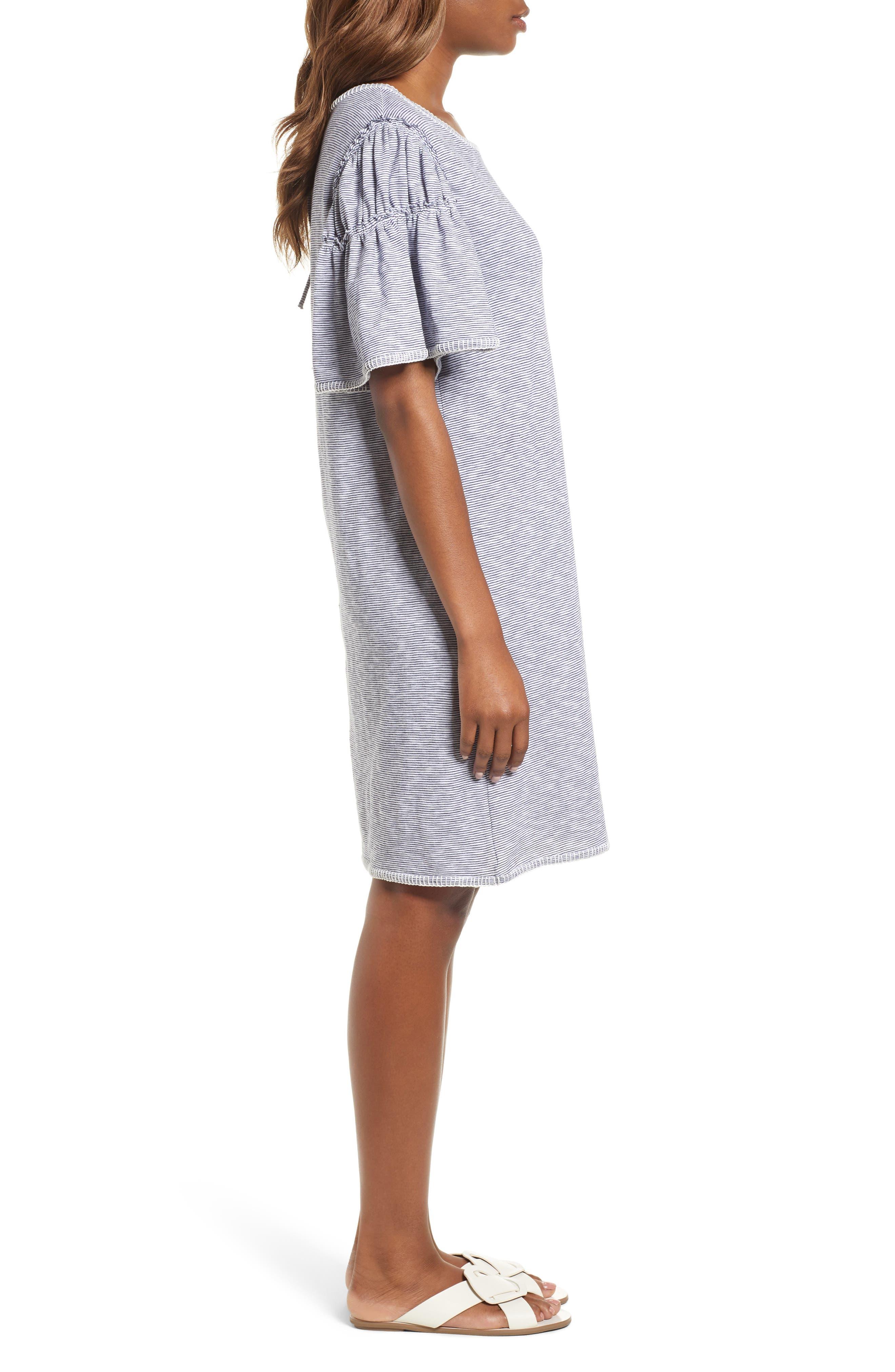 Flounce Sleeve Knit Dress,                             Alternate thumbnail 5, color,