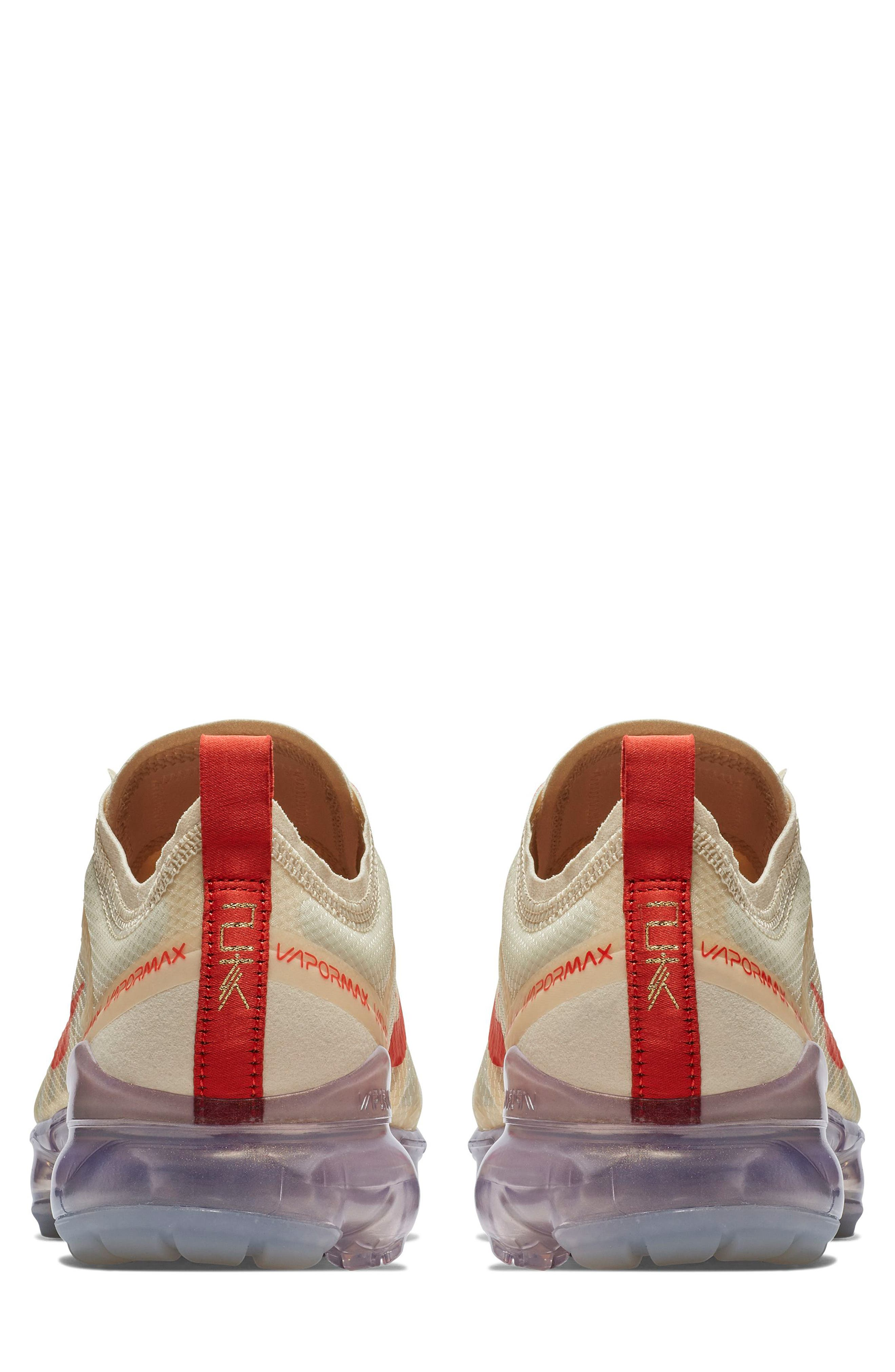 Air VaporMax 2019 Chinese New Year Running Shoe,                             Alternate thumbnail 2, color,                             CREAM/ HABANERO RED/ CLUB GOLD
