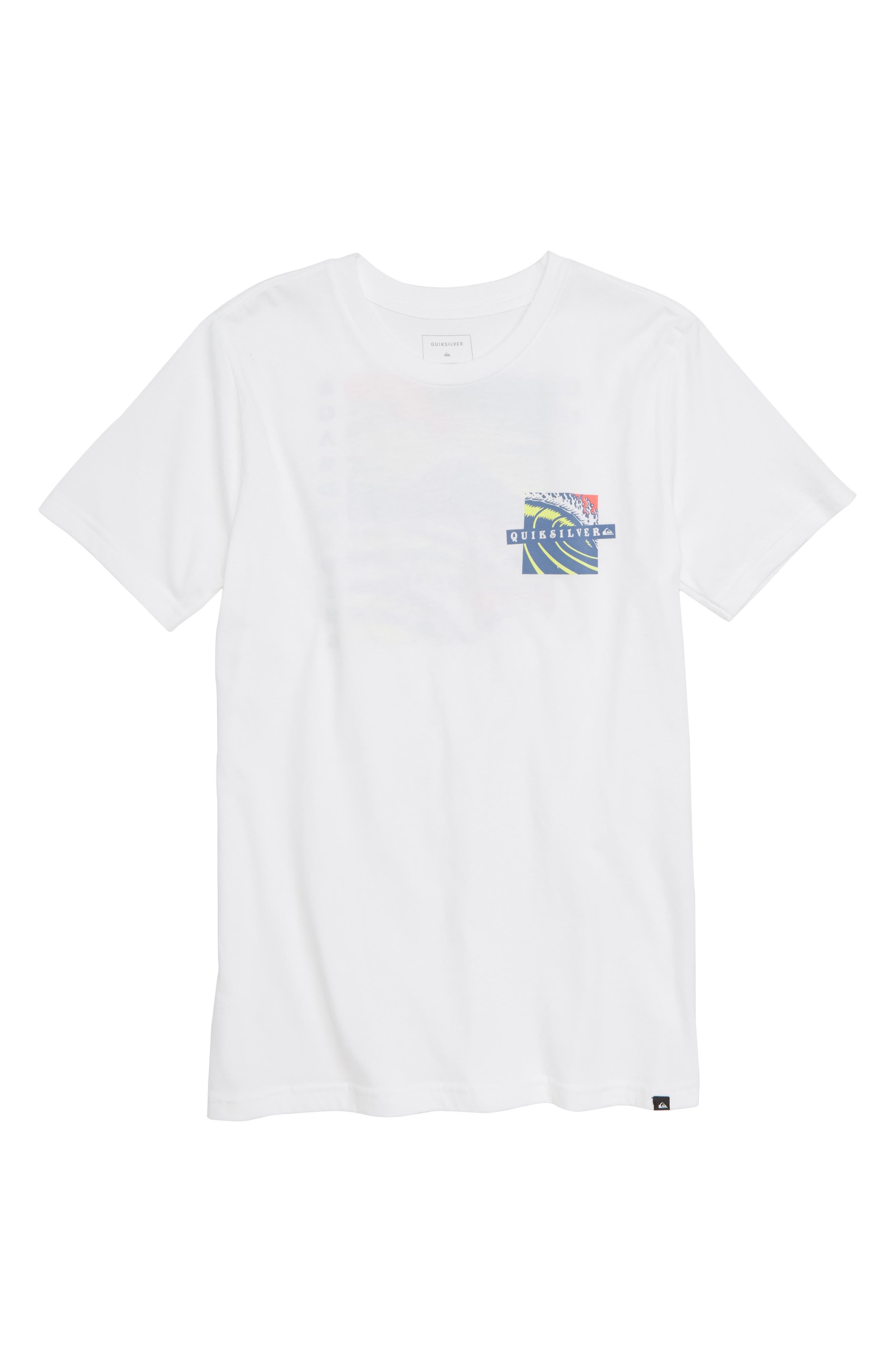 Tropical Eruption Graphic T-Shirt,                         Main,                         color, WHITE