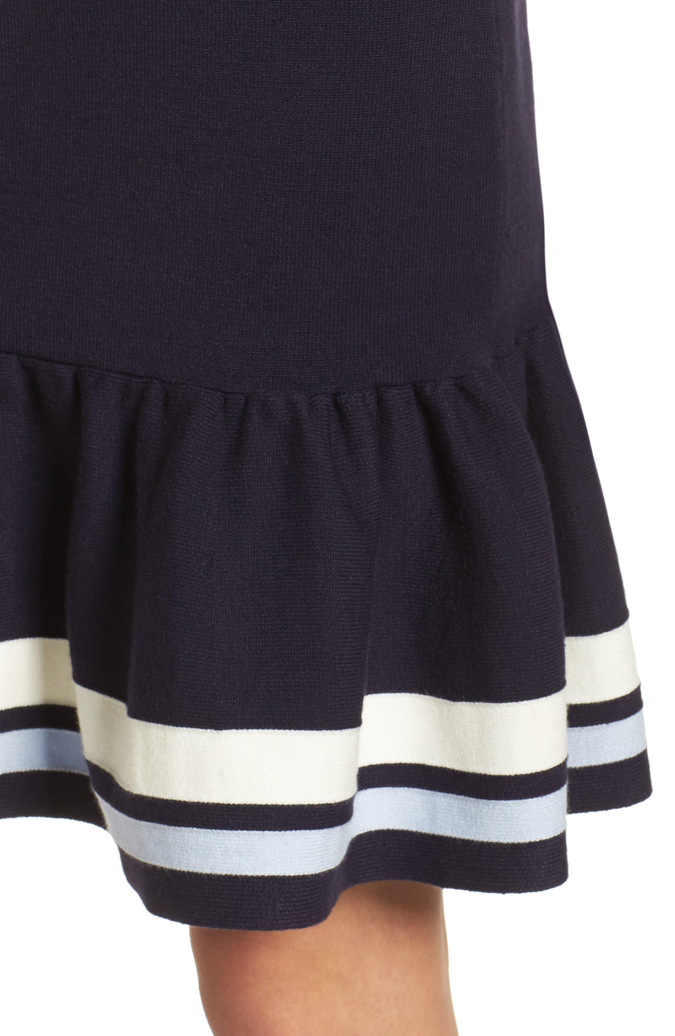 Peplum Hem Sweater Dress,                             Alternate thumbnail 4, color,                             410