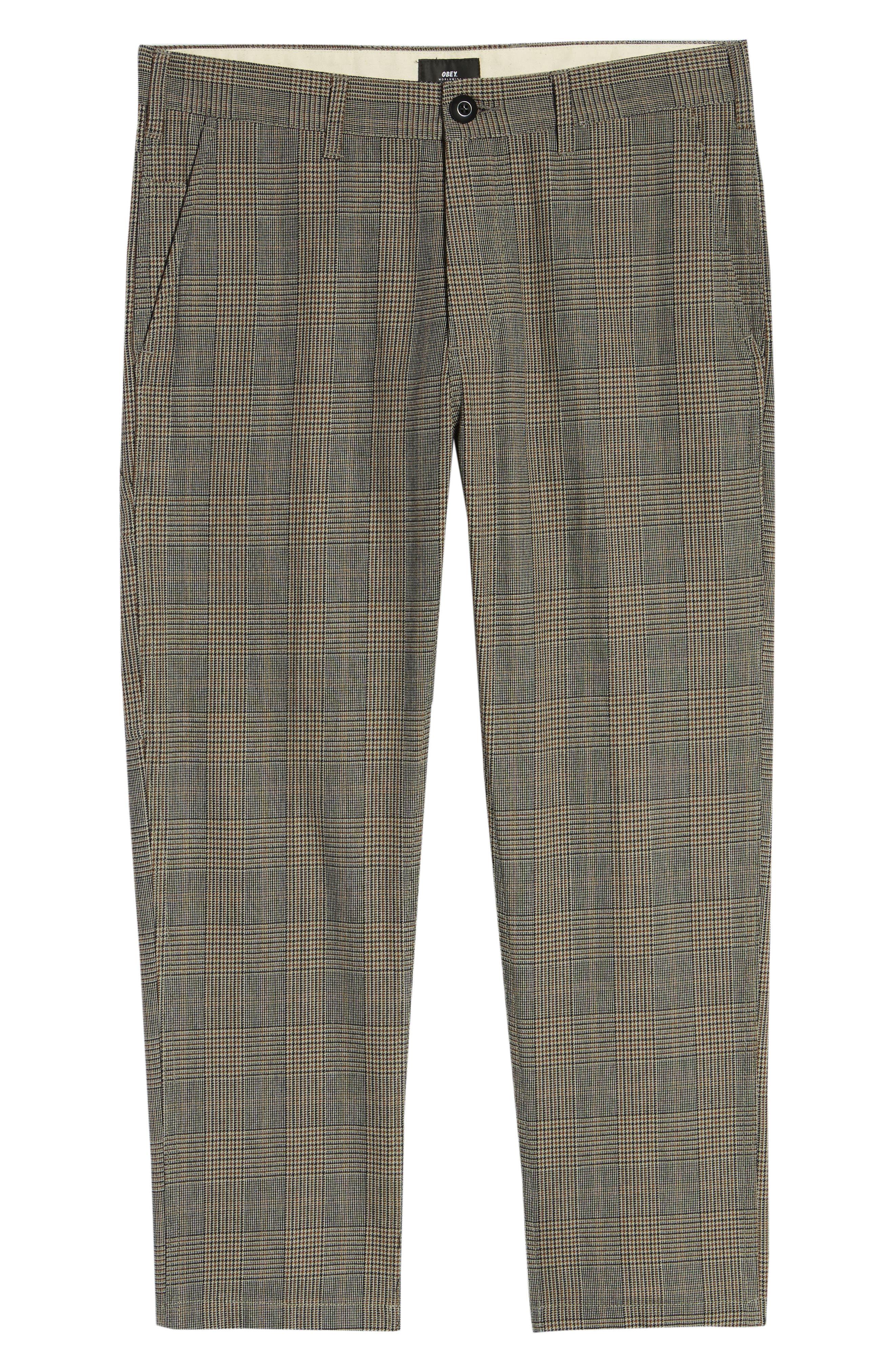 Straggler Glen Plaid Carpenter Pants,                             Alternate thumbnail 6, color,                             BLACK MULTI