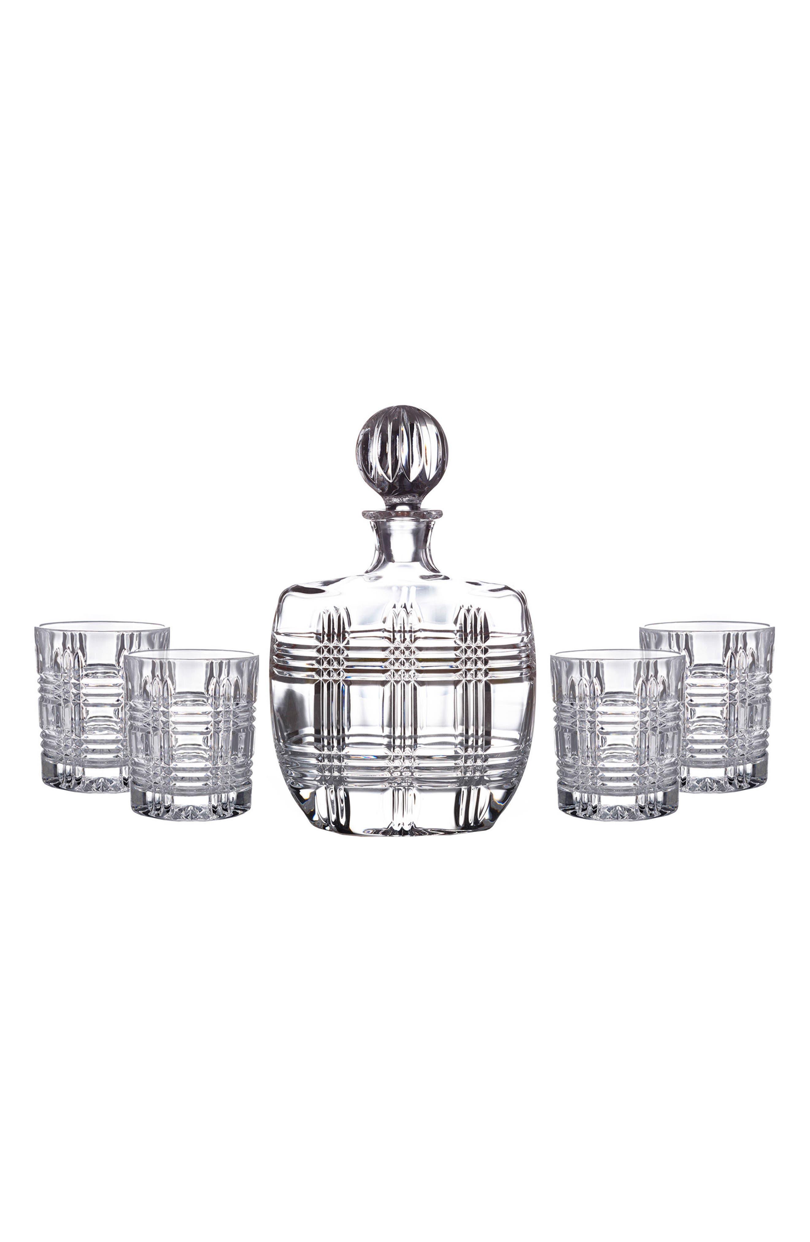 Bridgeport 5-Piece Decanter & Whiskey Glasses Set,                             Alternate thumbnail 2, color,                             100