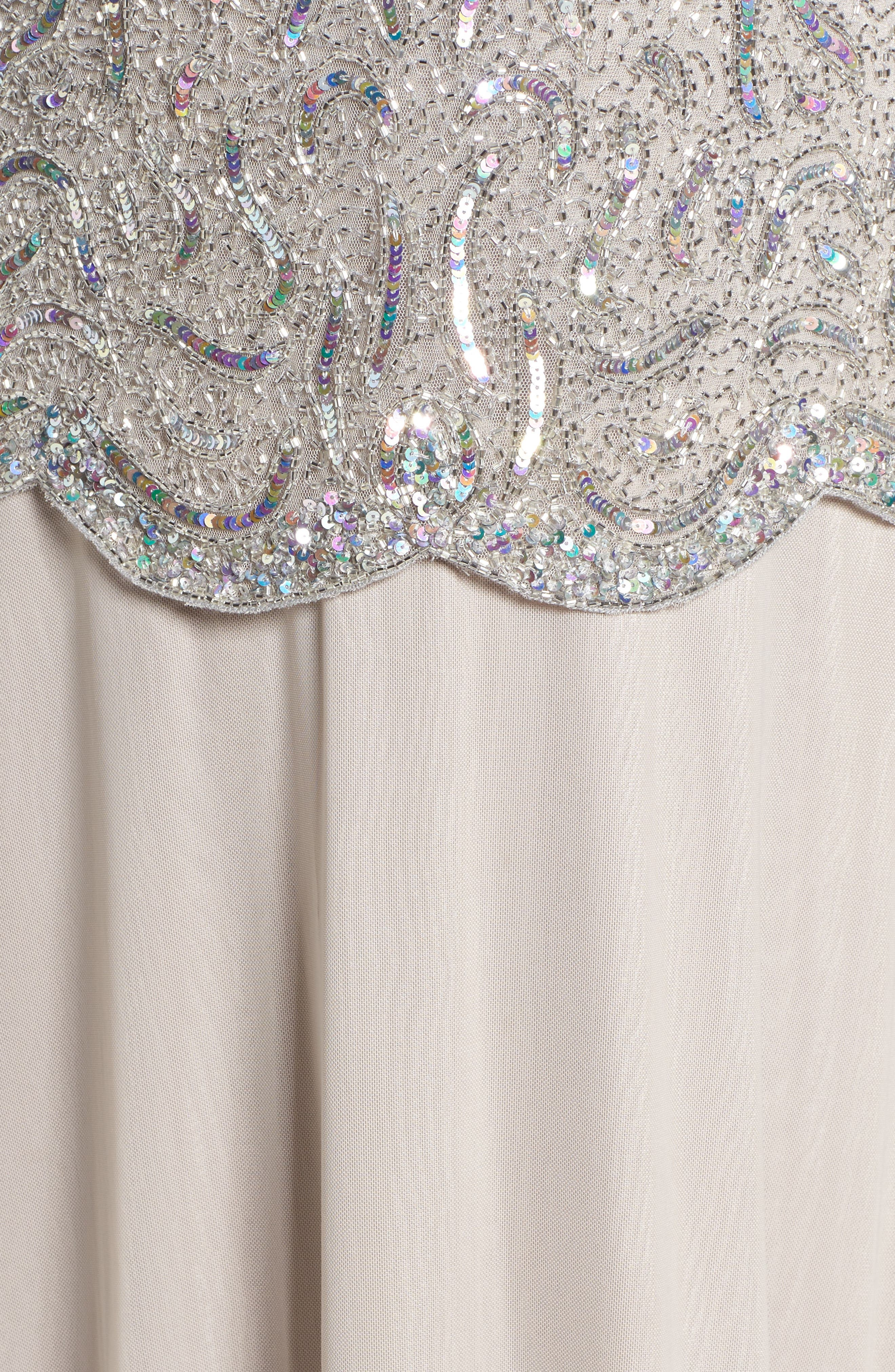 Embellished Two-Piece Gown,                             Alternate thumbnail 5, color,
