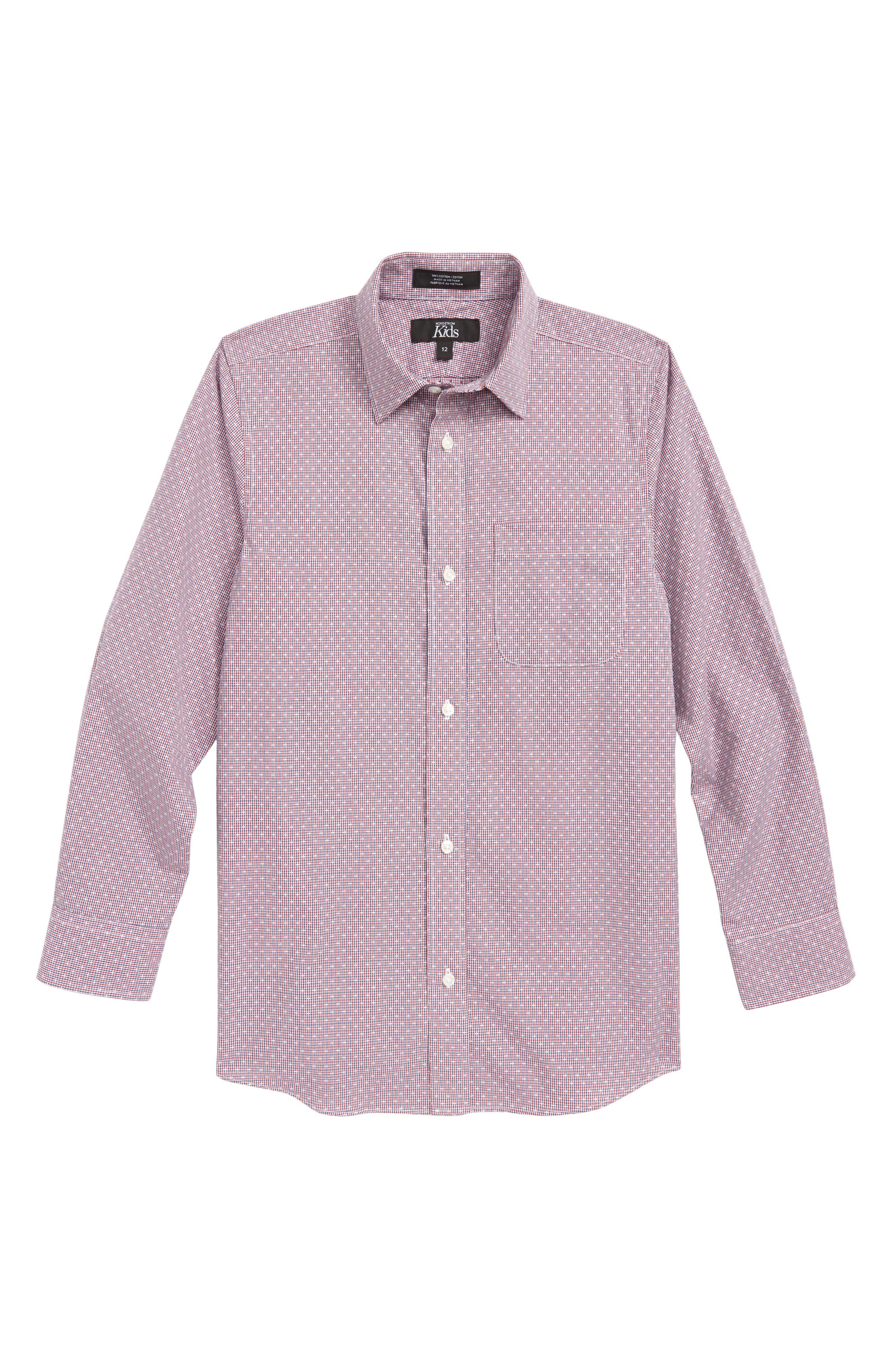 Check Dress Shirt,                         Main,                         color, 601