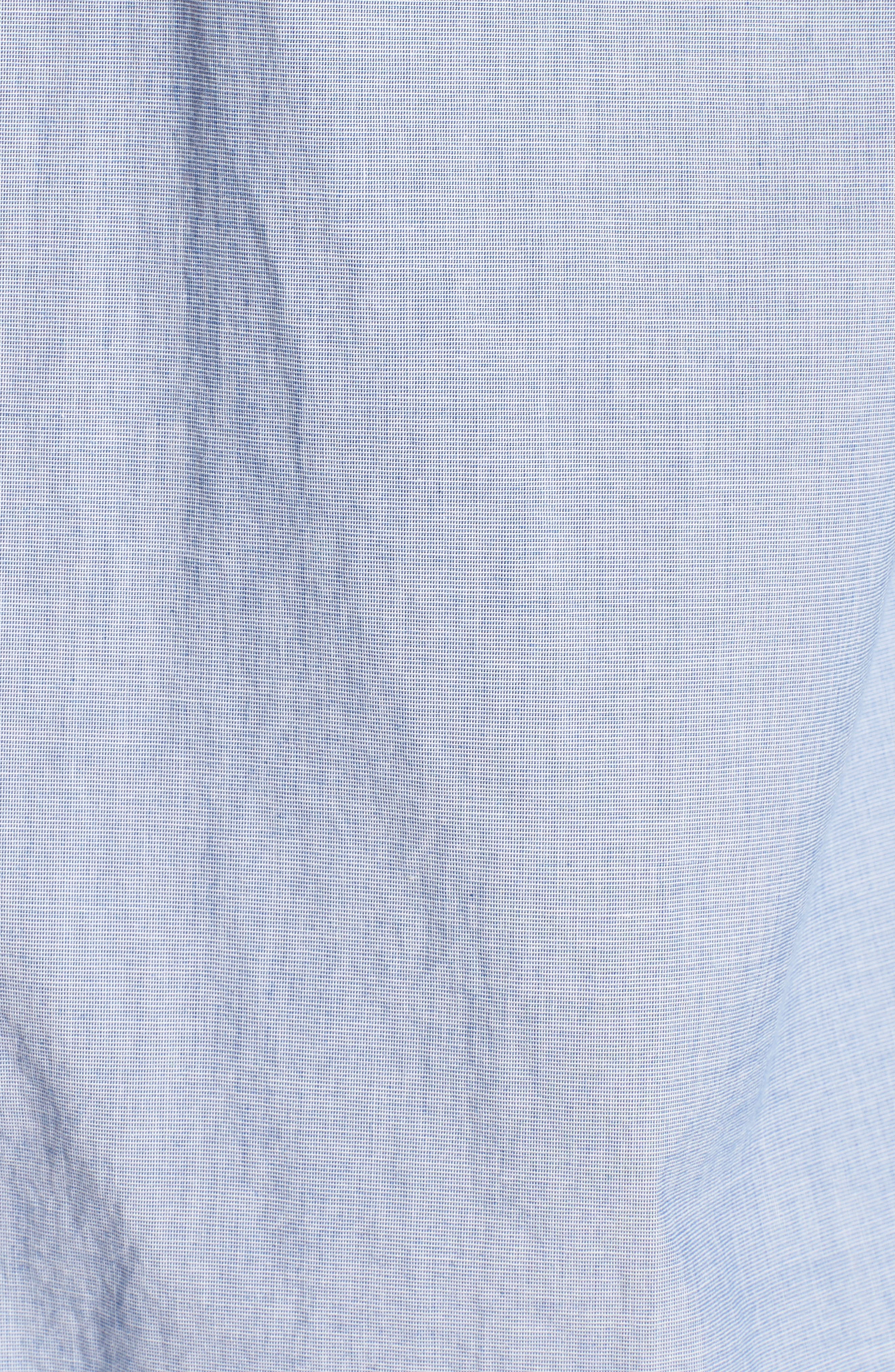 Regular Fit Solid Sport Shirt,                             Alternate thumbnail 5, color,