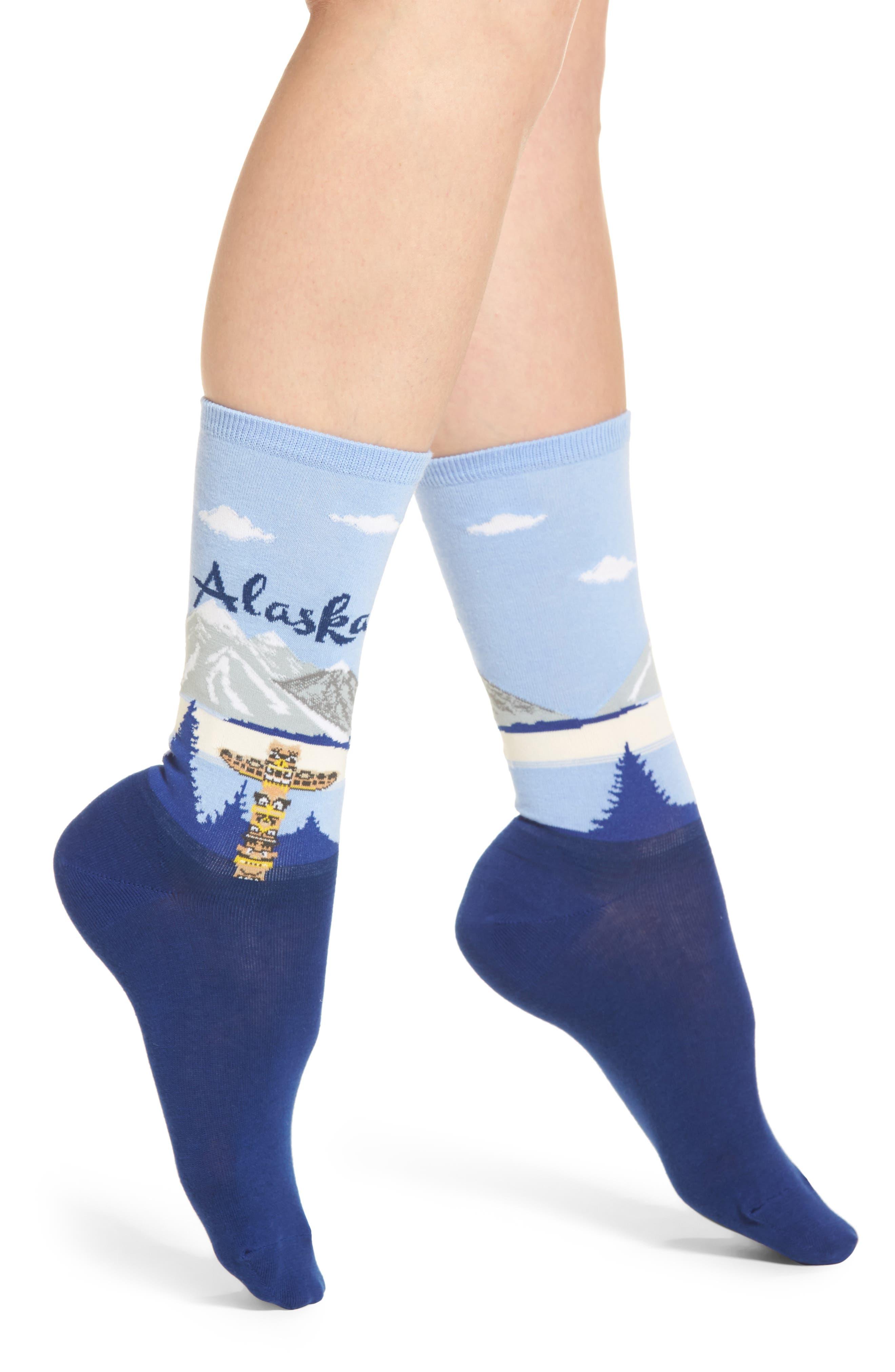 Travel Series - Alaska Crew Socks,                             Main thumbnail 1, color,                             439