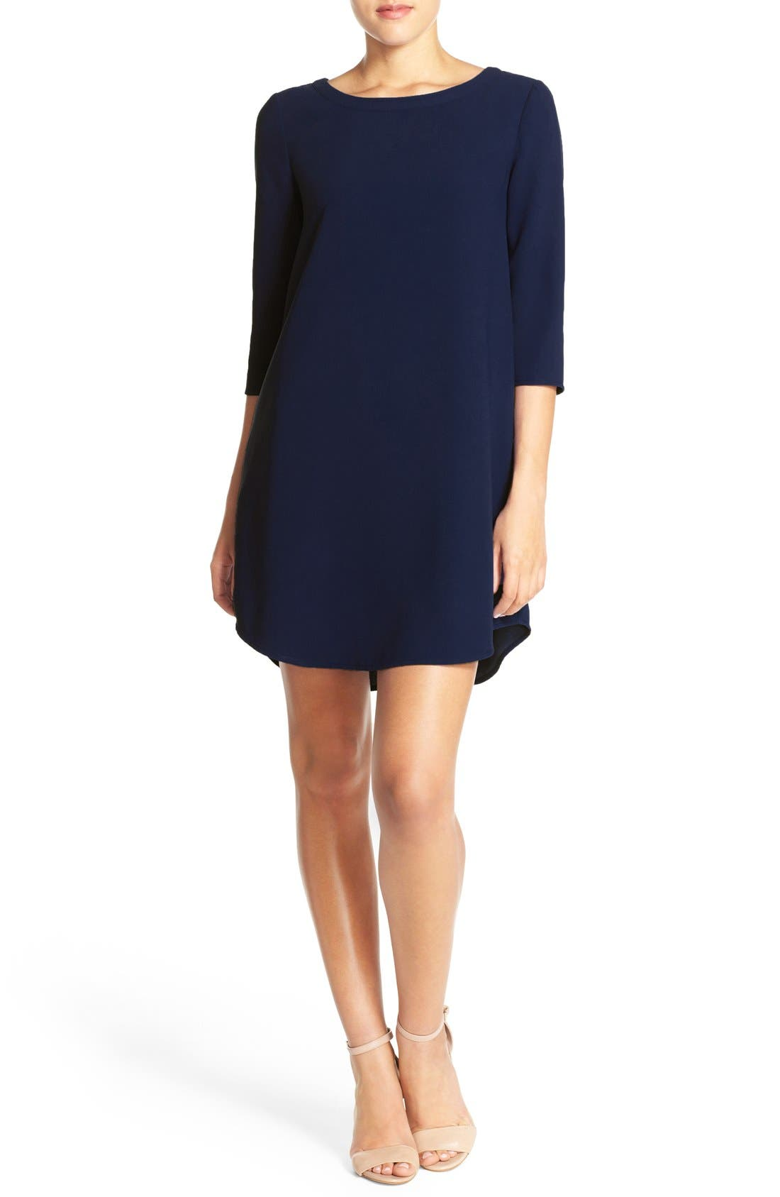 'Jazlyn' Crepe Shift Dress,                             Alternate thumbnail 29, color,