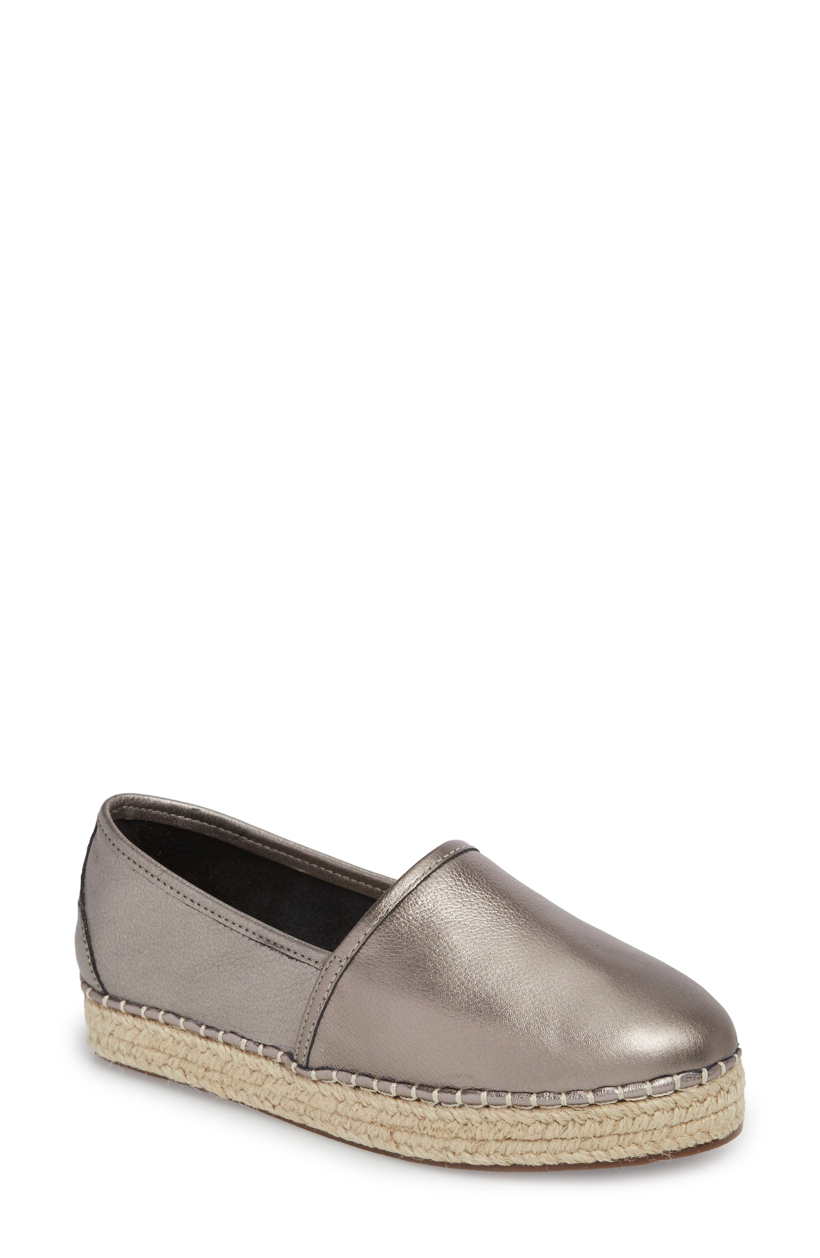 Boyd Espadrille Sneaker,                             Main thumbnail 1, color,                             GUNMETAL LEATHER