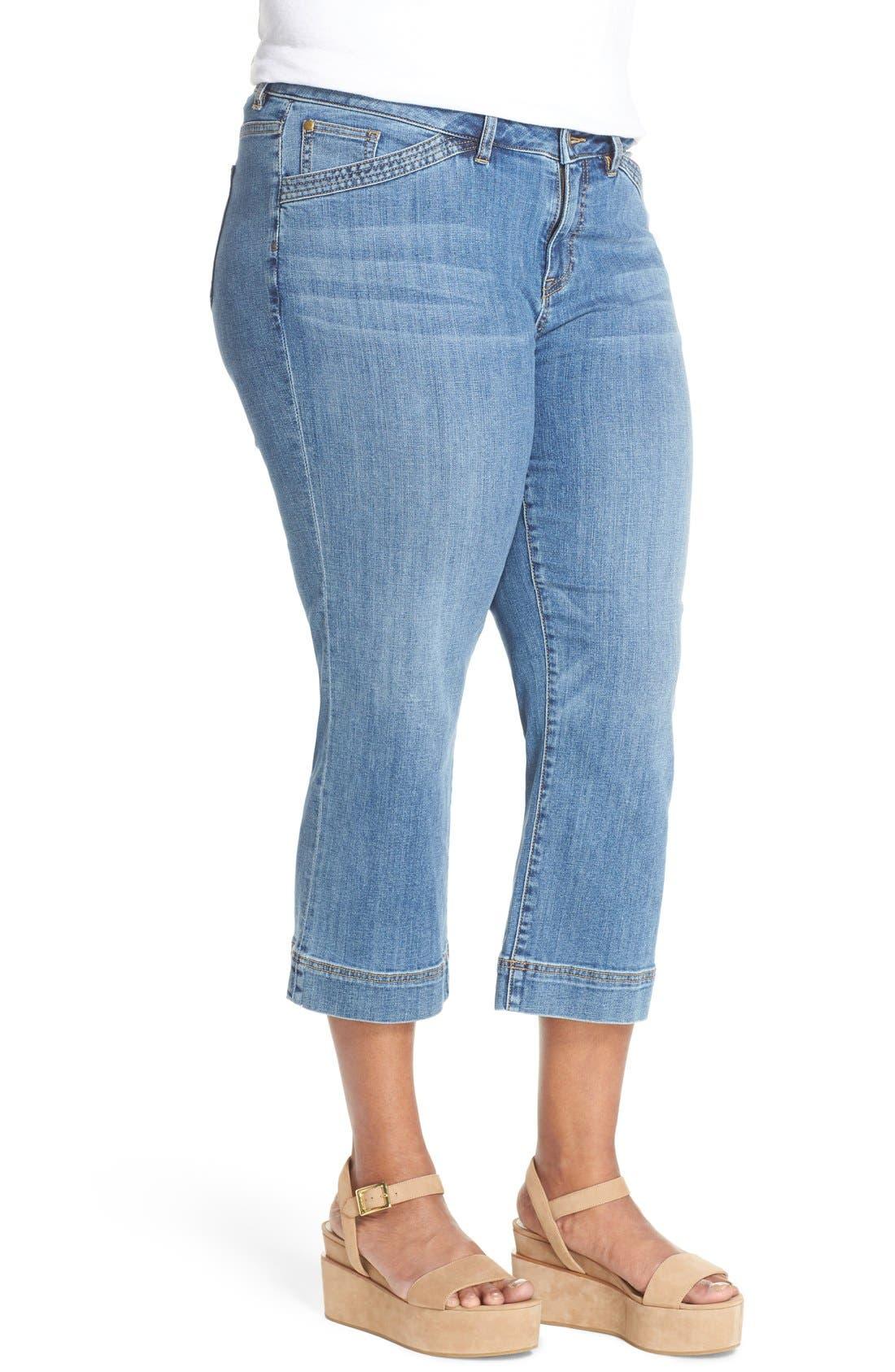 Wide Leg Crop Jeans,                             Alternate thumbnail 8, color,
