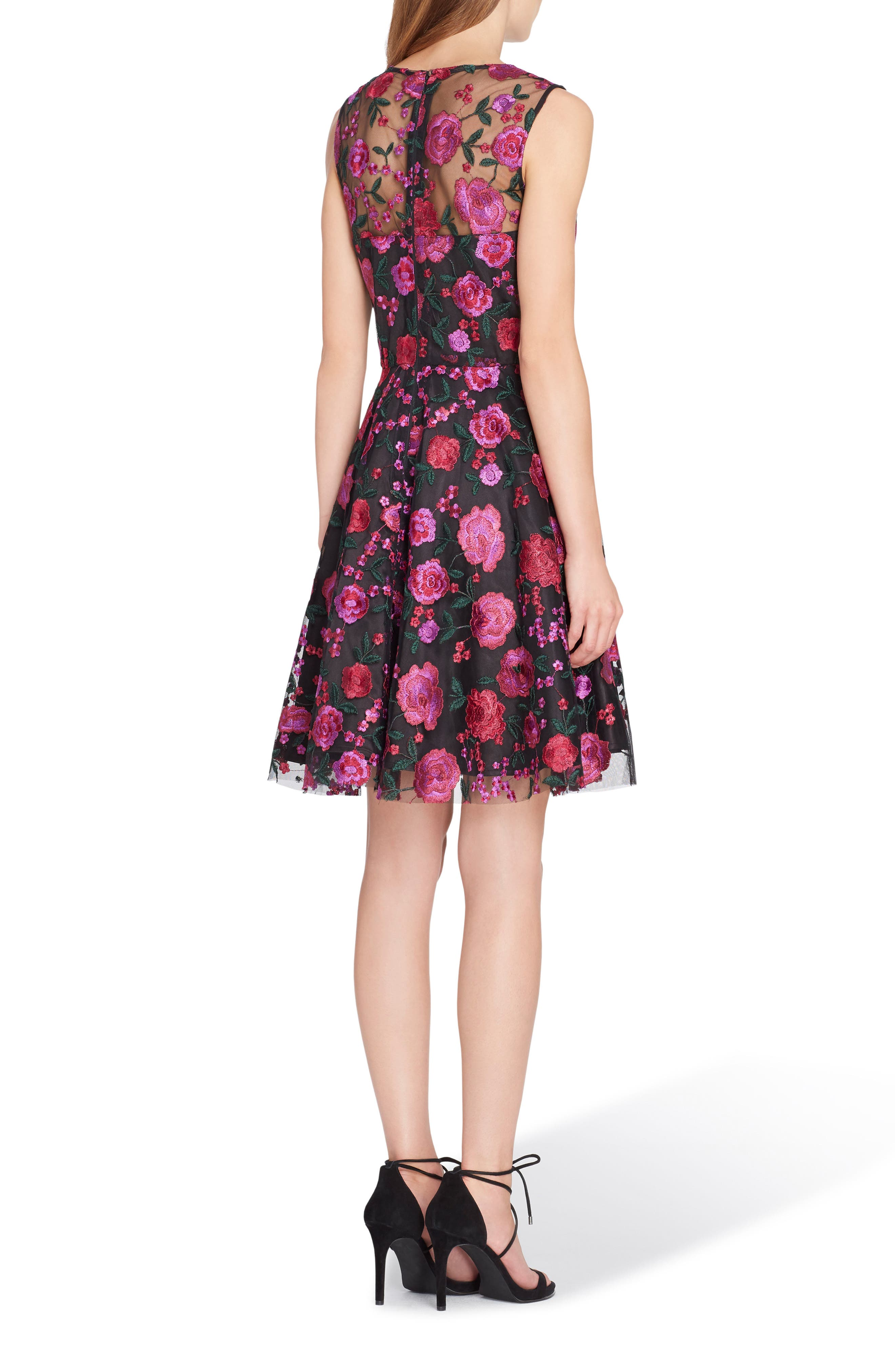 Embroidered Fit & Flare Dress,                             Alternate thumbnail 2, color,                             698