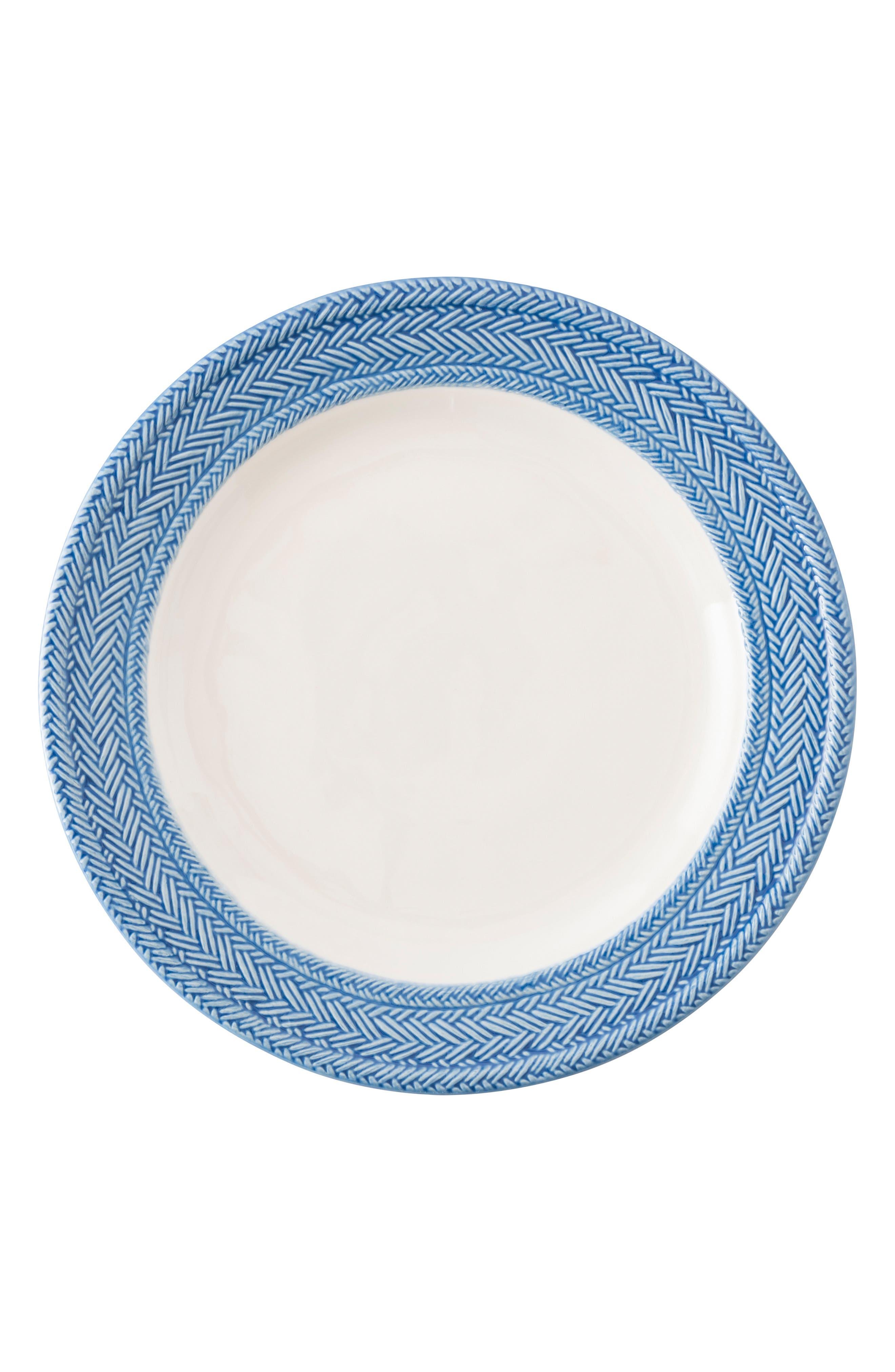 Le Panier Dinner Plate,                             Main thumbnail 1, color,                             WHITEWASH/ DELFT BLUE
